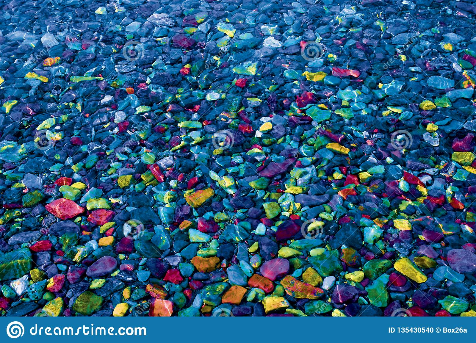 Colorful Rocks and Stones for Background