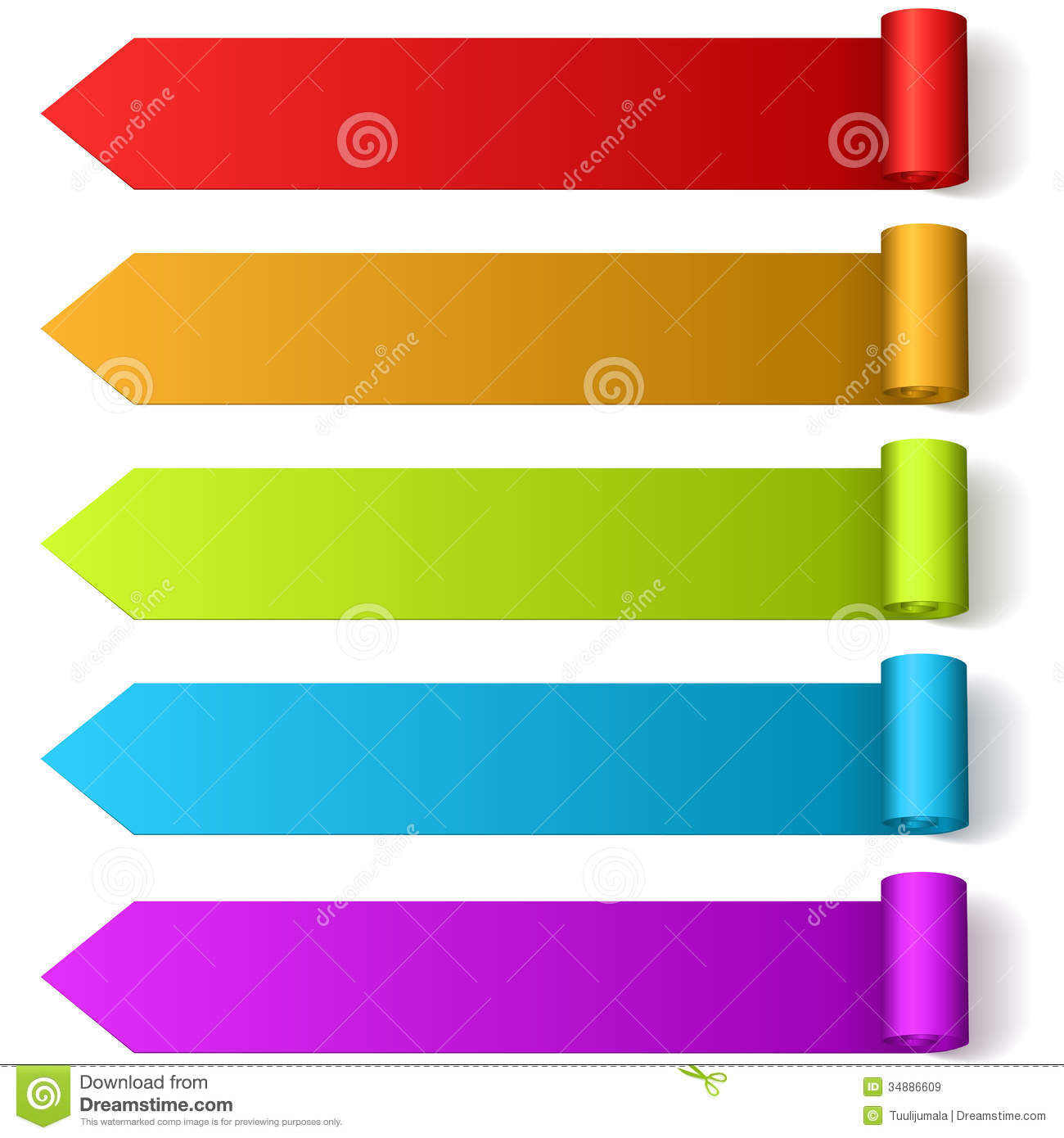 colorful arrow shaped labels royalty free stock images painting clip art free painting clip art borders