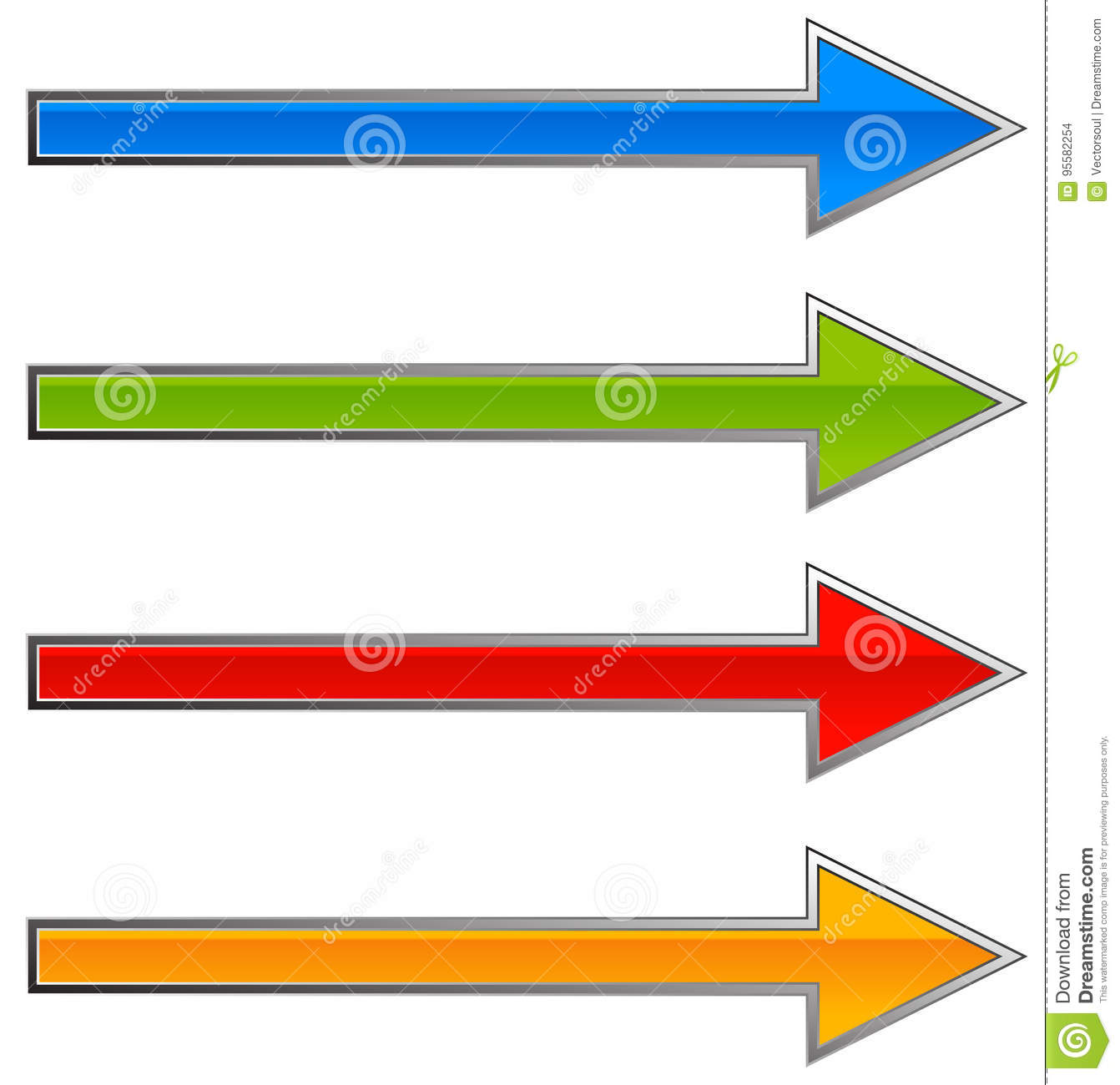 Colorful Arrow Template  Arrow Shapes In Different Colors