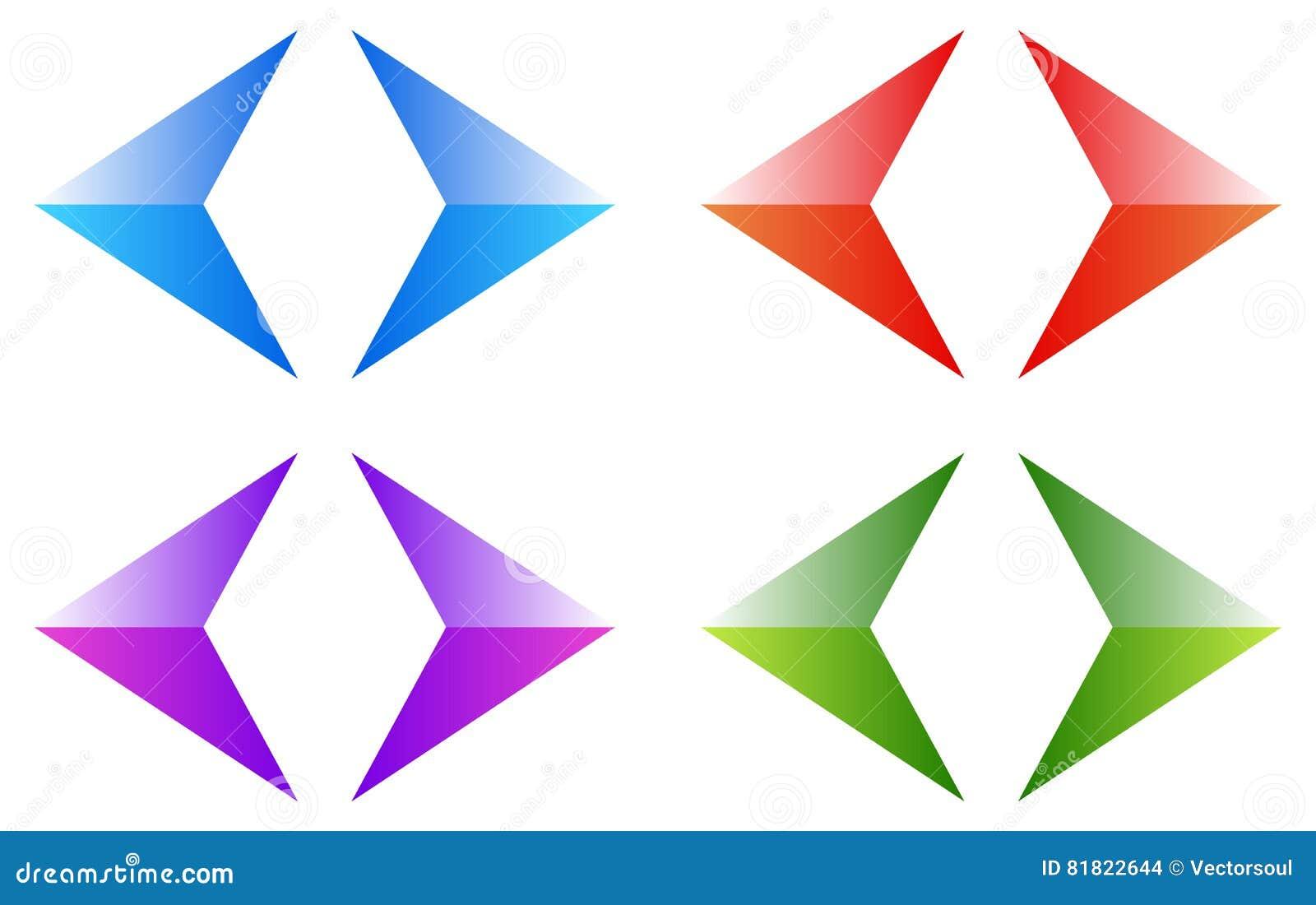 Colorful Arrows, Arrowheads  Shiny, Glossy Arrow Symbols