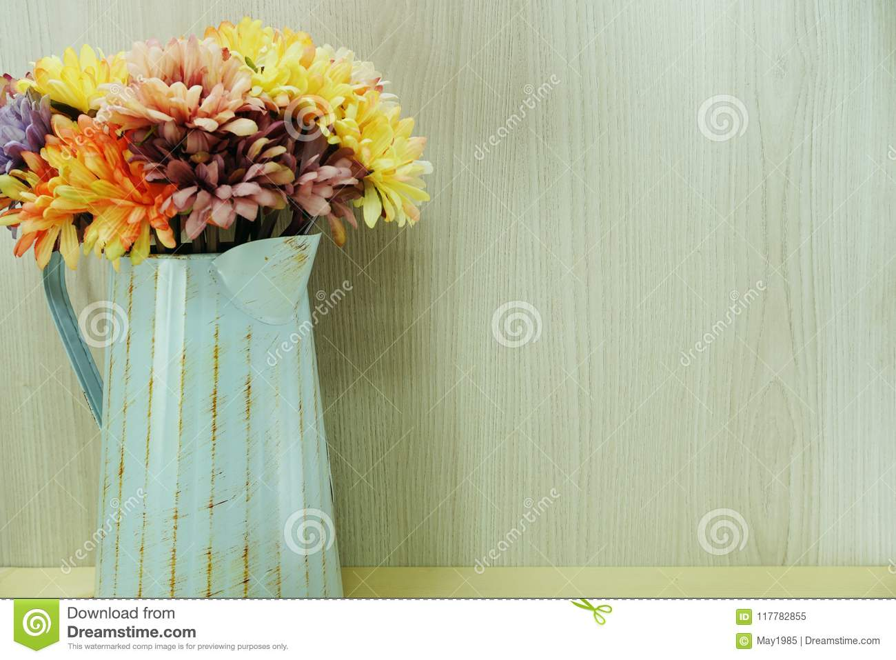 Colorful Artificial Daisy Flower Home Decor Stock Image Image Of