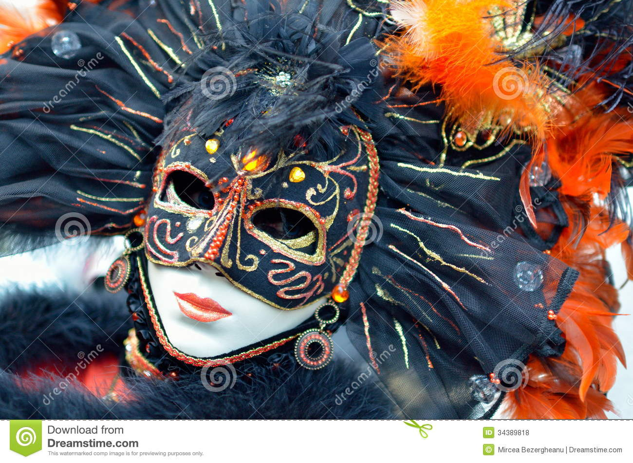 Colorful Artistic Masks On The Carnival Of Venice Royalty Free Stock Photos Image 34389818