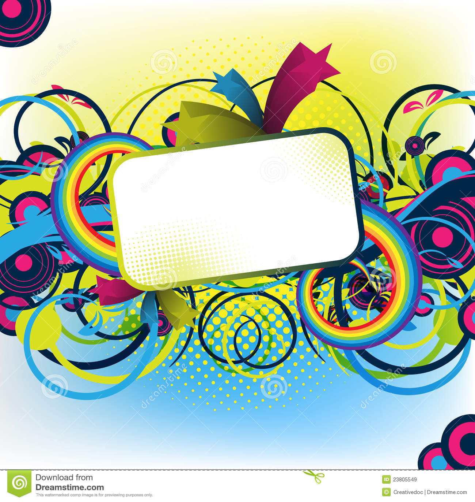 Colorful artwork for design
