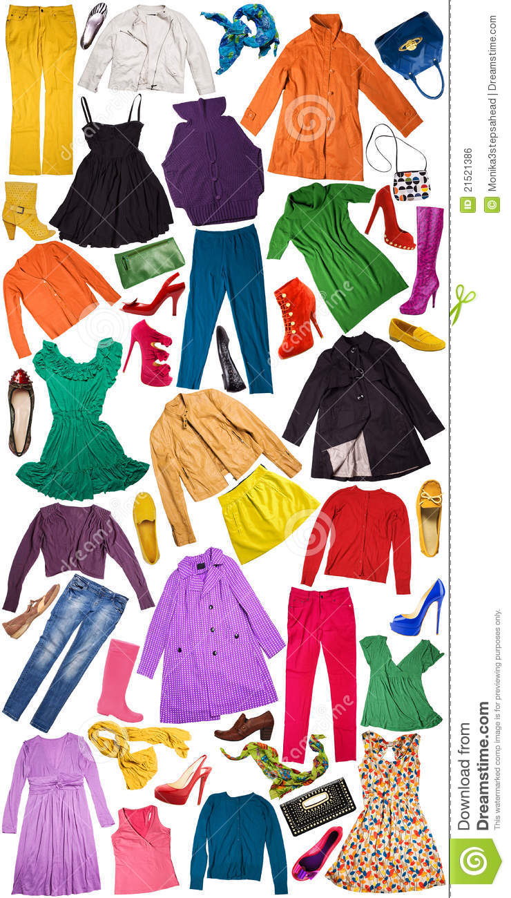 Colorful Autumn Clothing Background Stock Photo