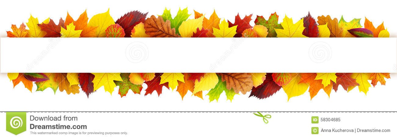 Colorful Autumn Leaves Banner Stock Photo - Image: 58304685