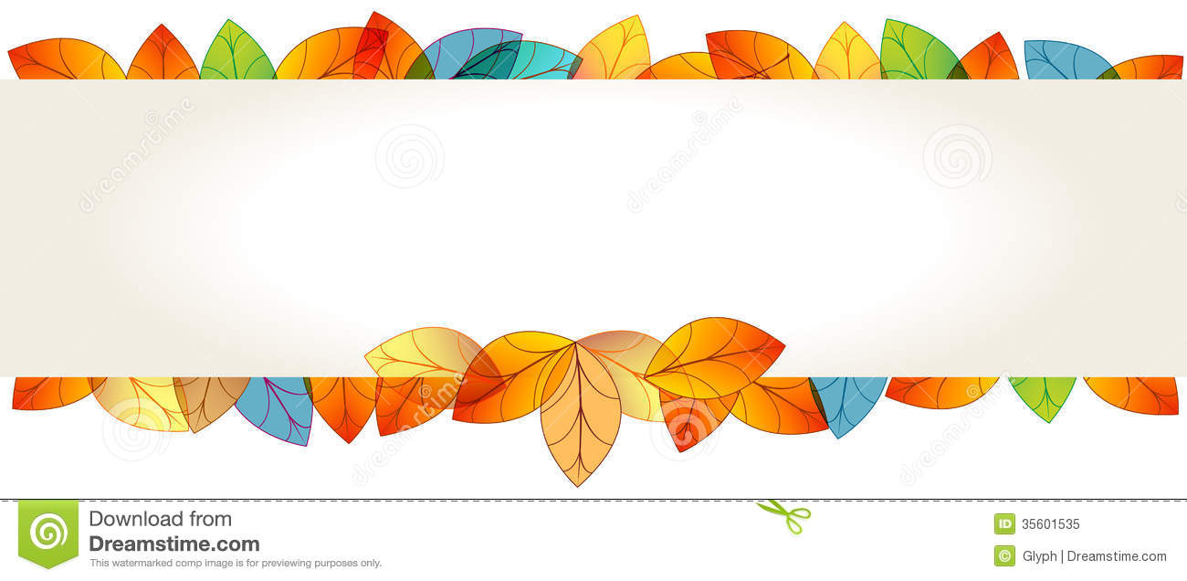 Colorful Autumn Leaves Banner Stock Vector - Illustration ...