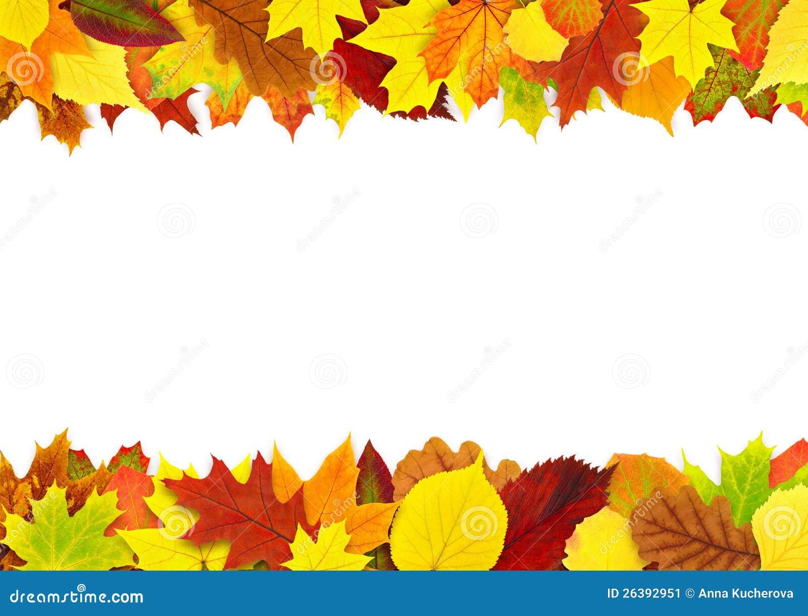 Colorful Autumn Leaves Border Stock Image Image 26392951