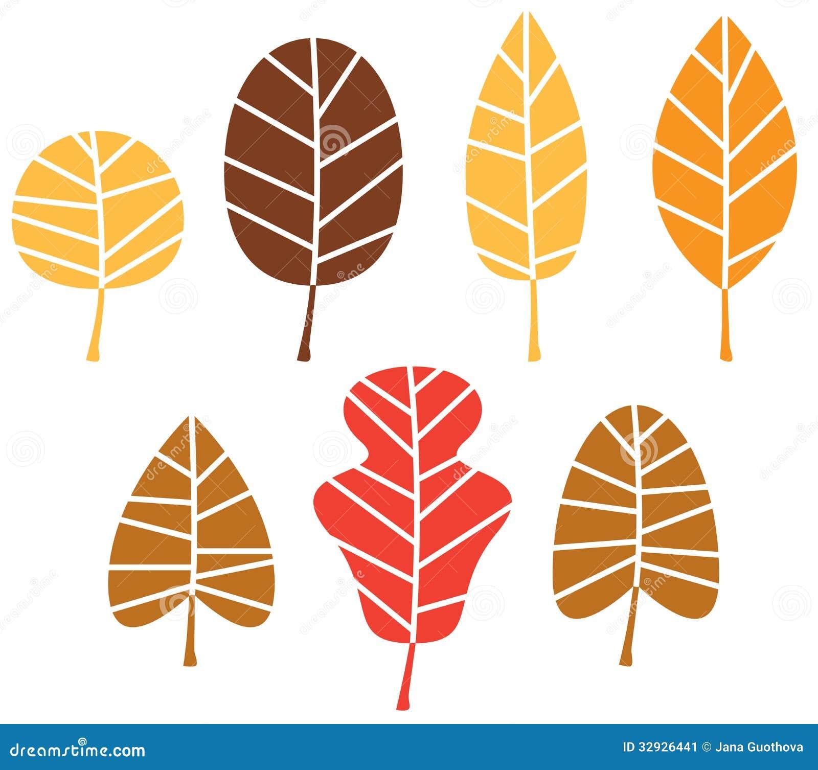 stylized autumn leaves mix vector illustration mr no pr no 3 3109 5
