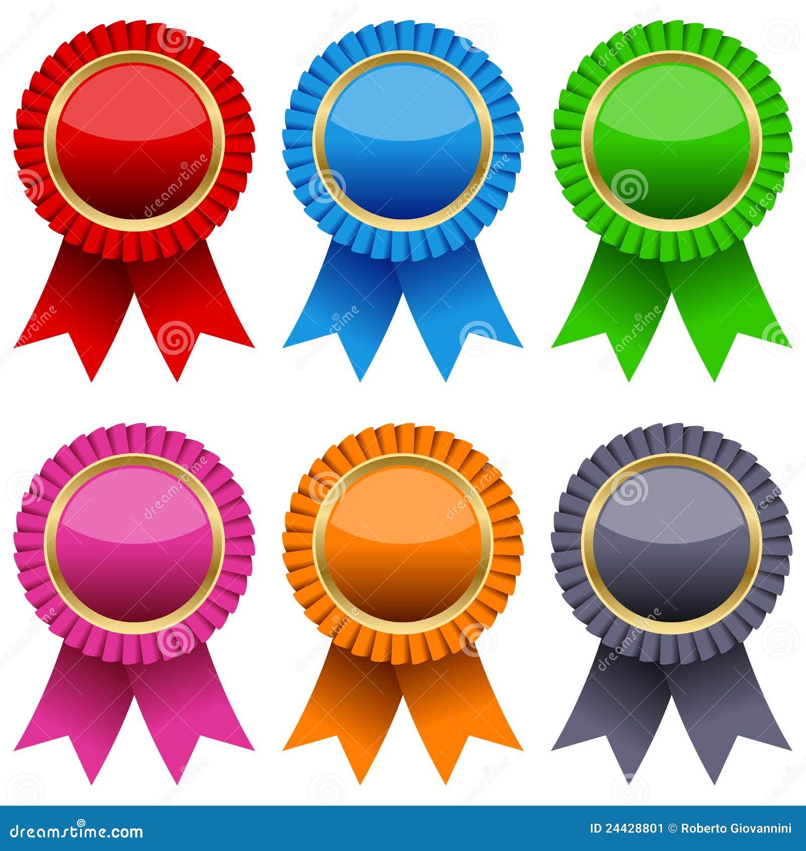 Colorful Award Ribbons Set Stock Image Image 24428801