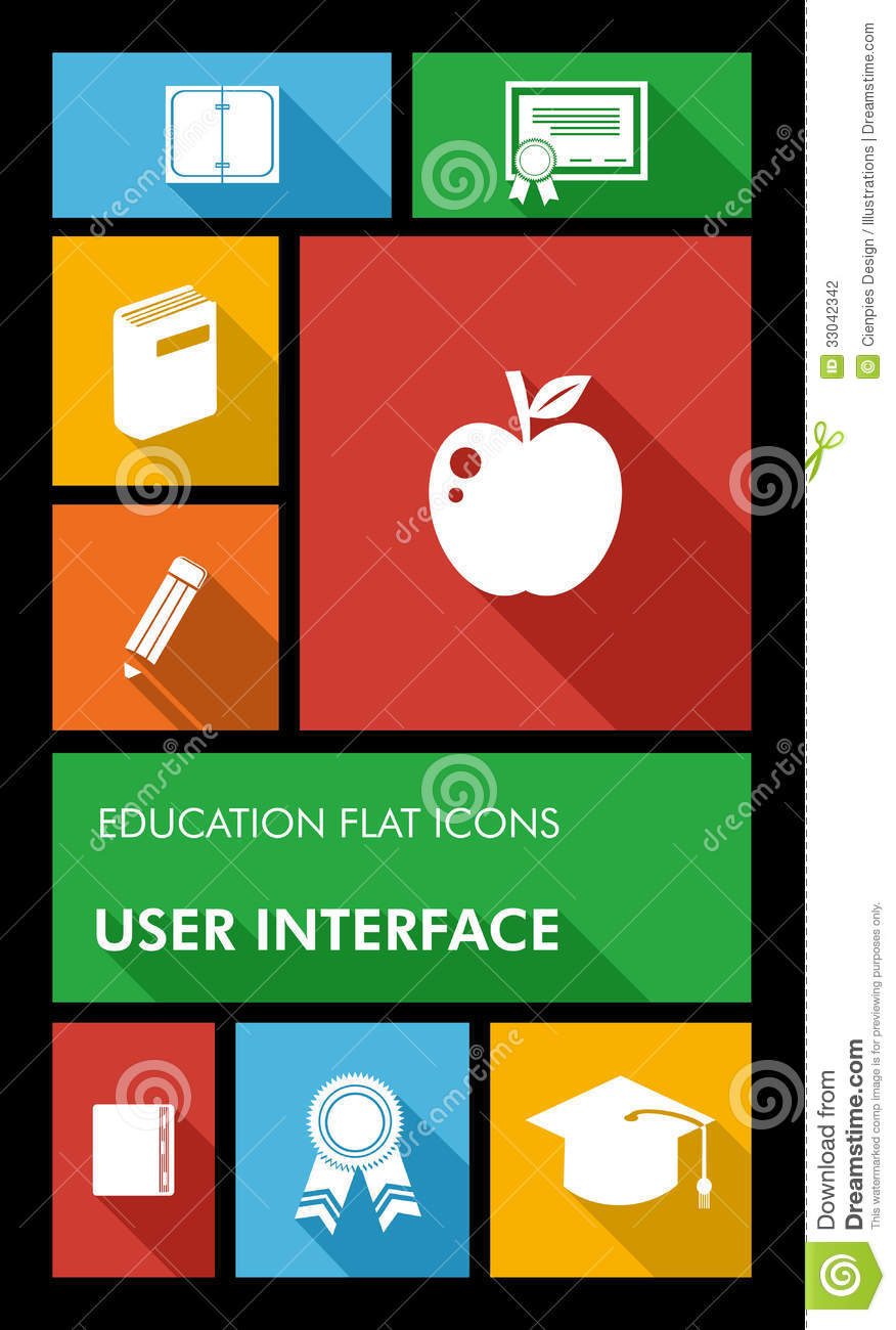 Colorful back to school user interface mobile app stock for Easy app design