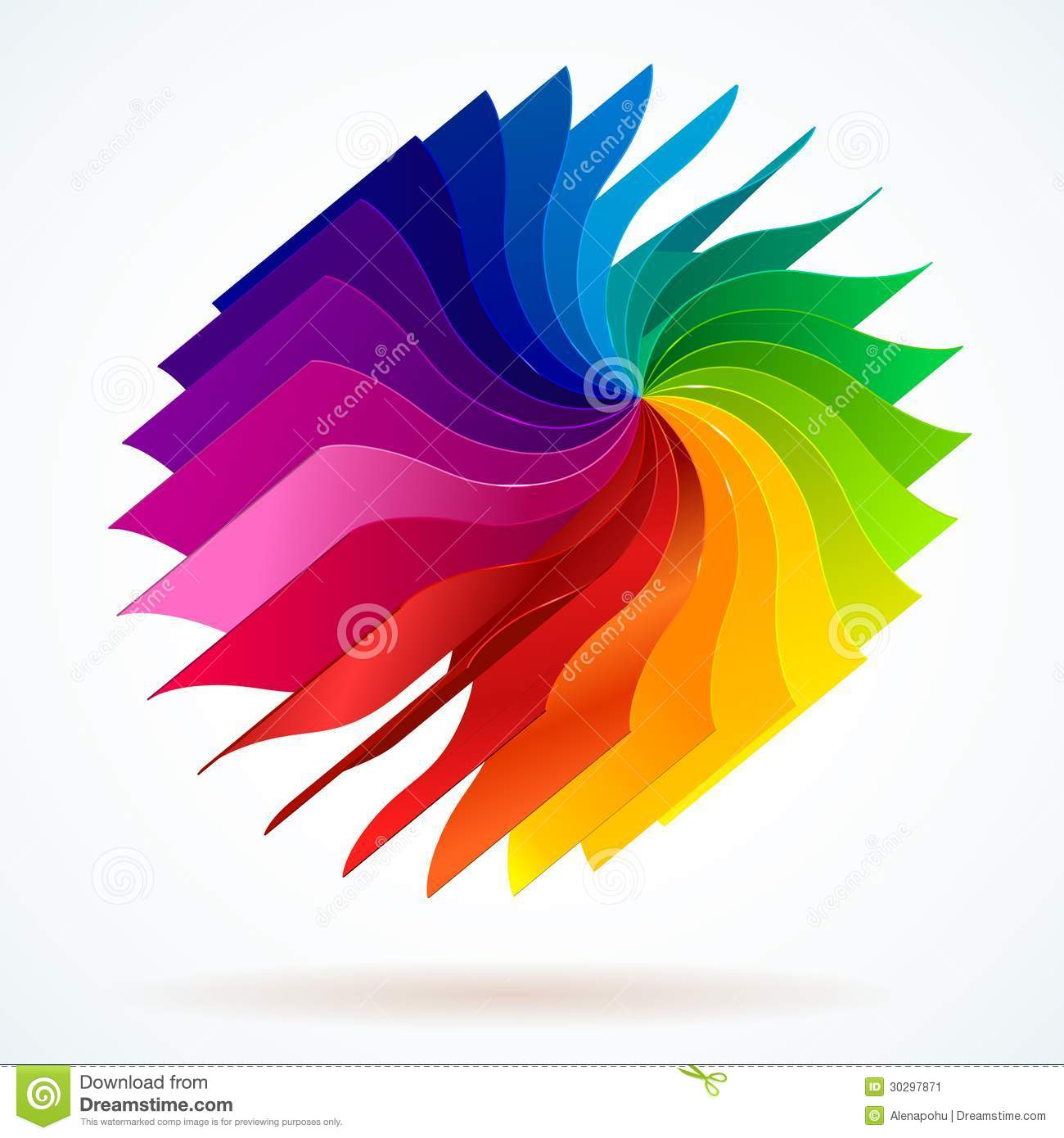 Colorful Background With Book Pages Rainbow Stock Vector ...