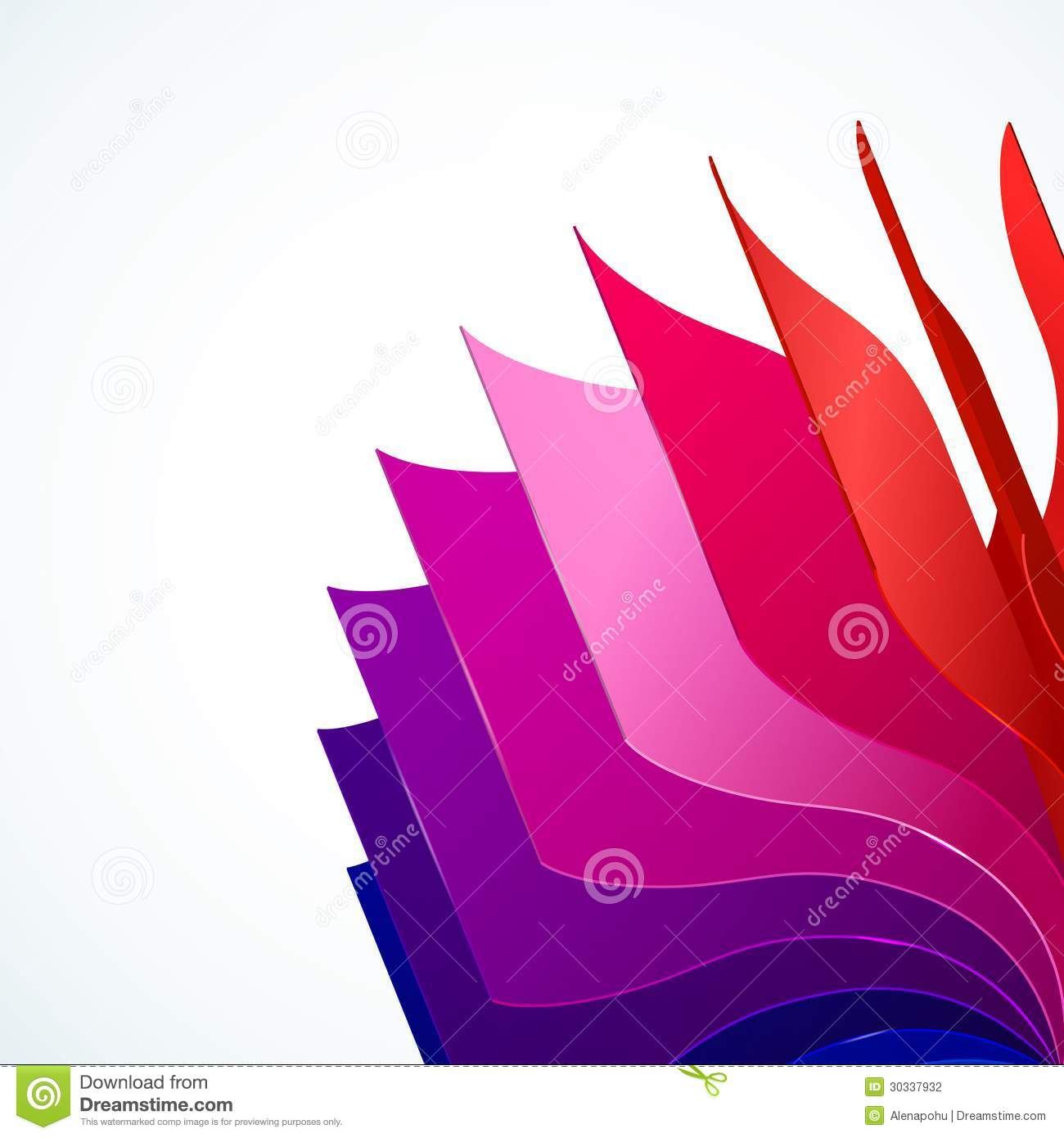 Colorful Background With Book Pages Rainbow Stock Vector