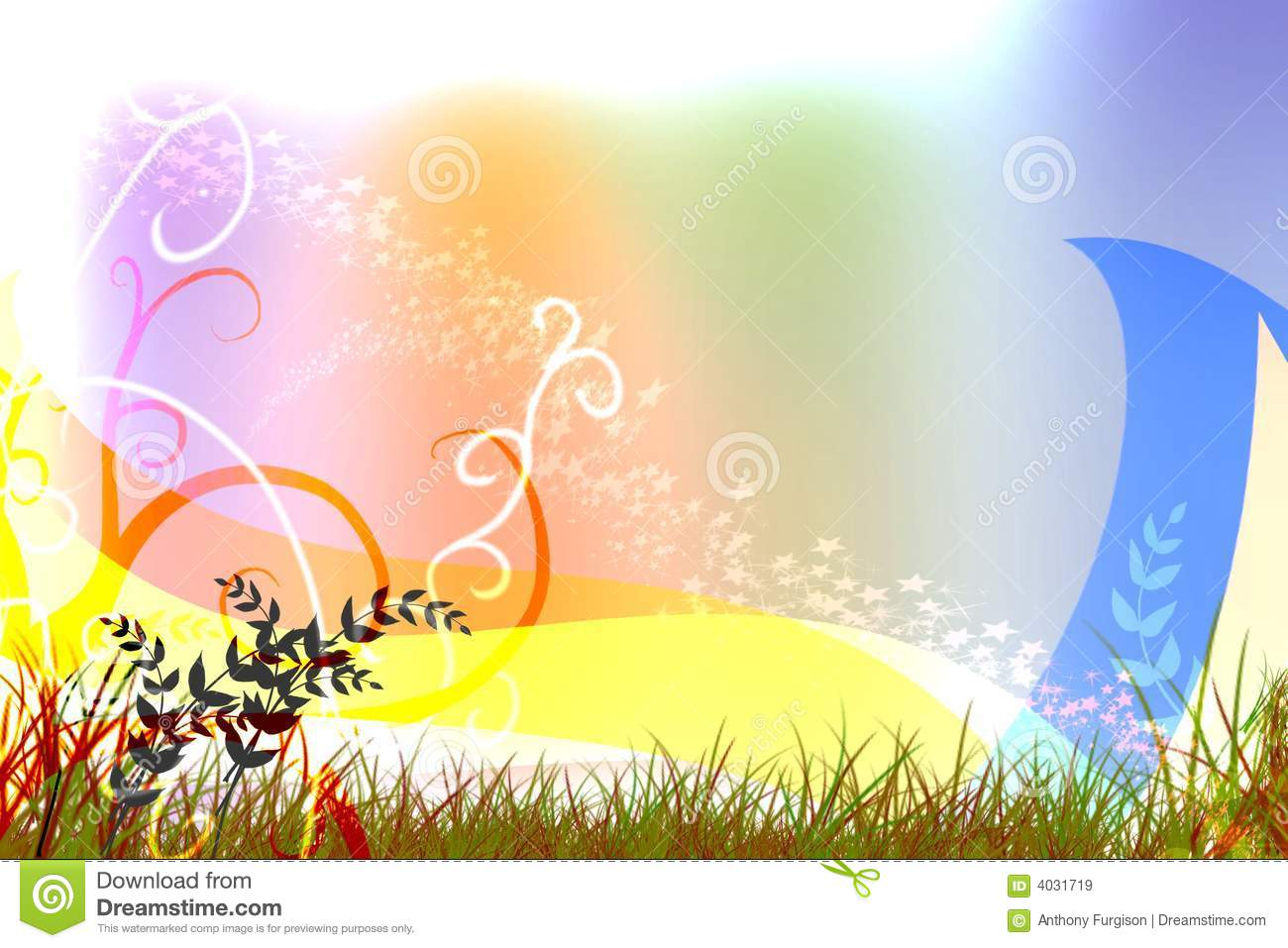 Colorful Background Cover Swirl Design Image Stock