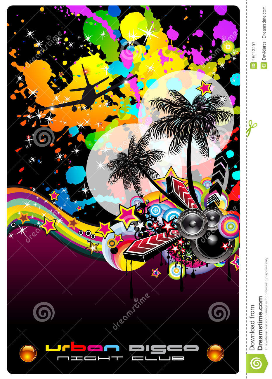 colorful background for musical flyer royalty free stock