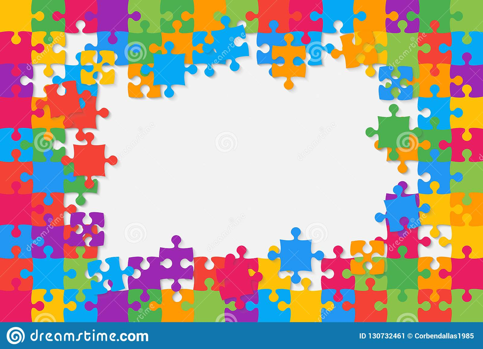 The Colorful Background Puzzle  Frame Of Puzzles  Stock
