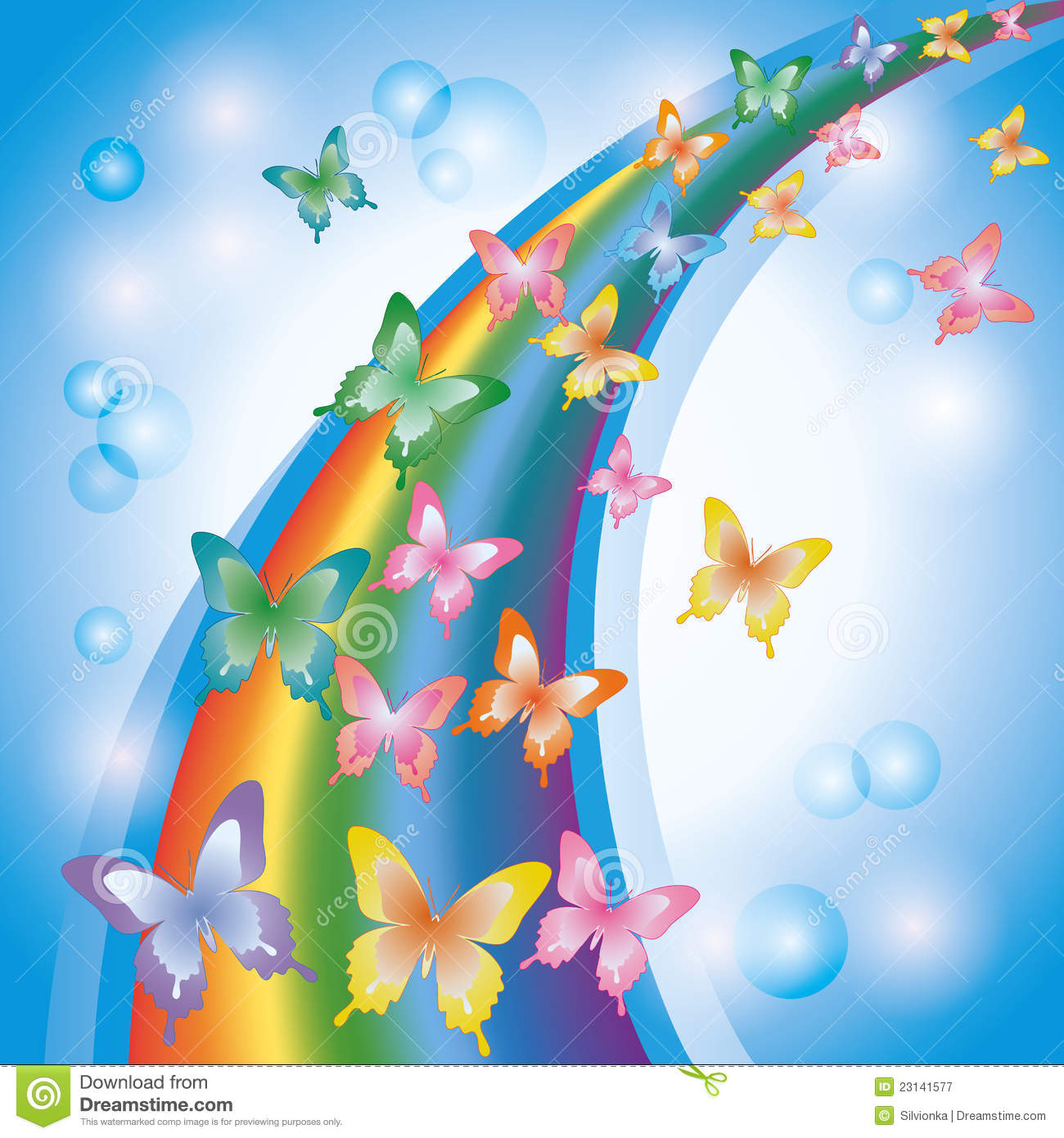 Royalty Free Stock Photography: Colorful background with rainbow and ...