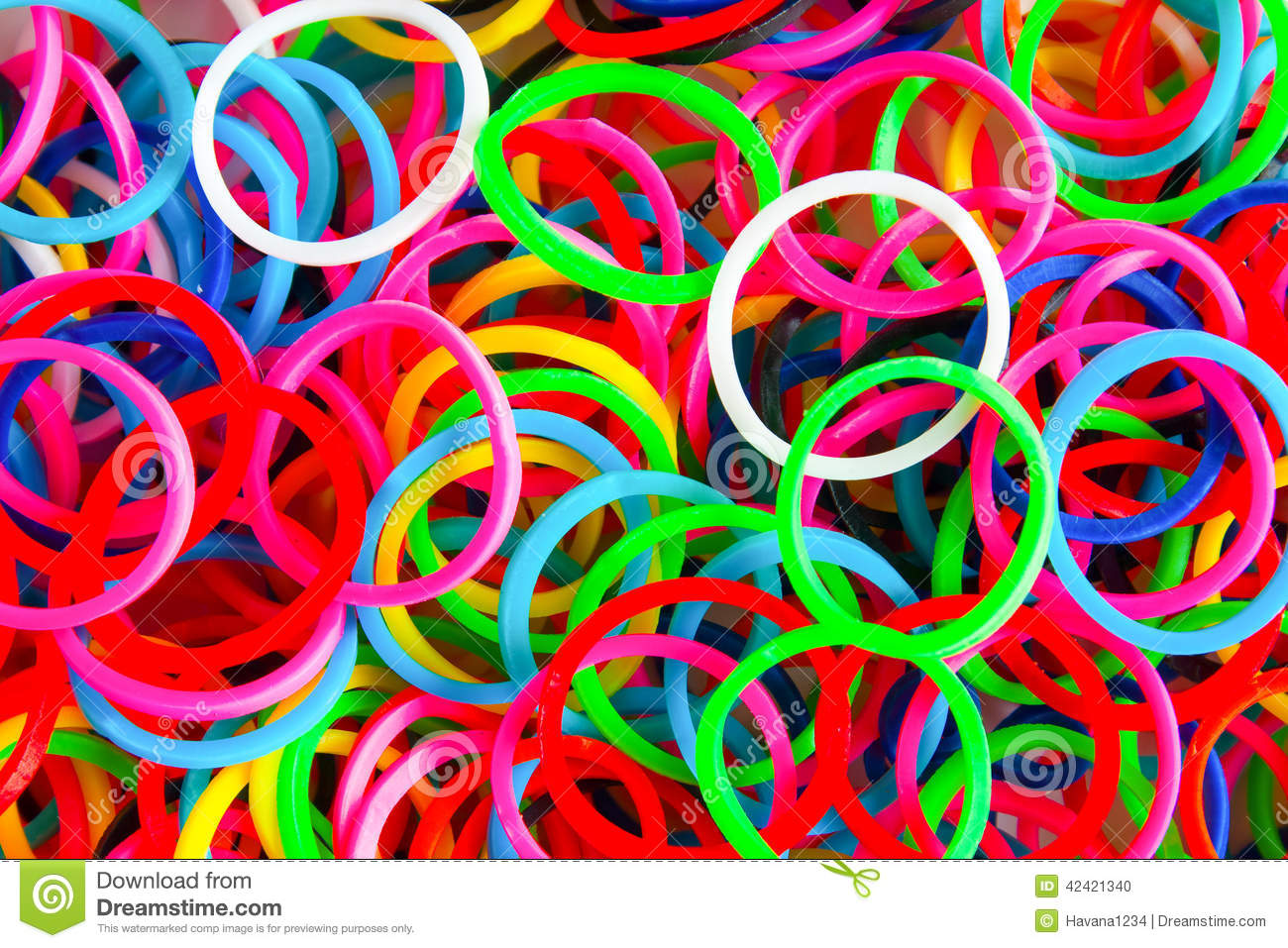 Colorful Background Rainbow Colors Rubber Bands Loom Stock