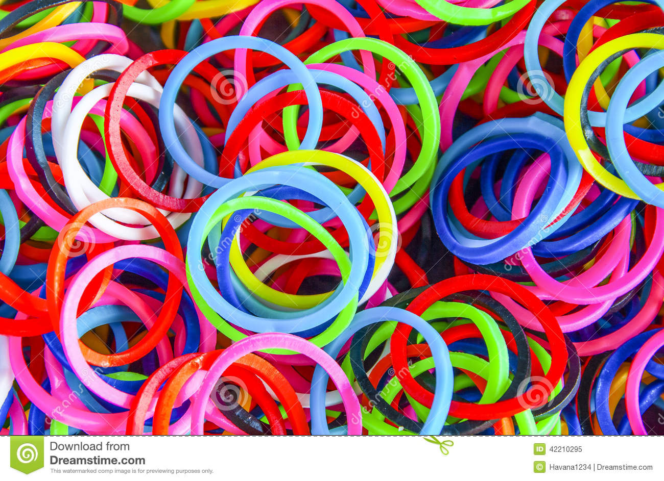 A Colorful Background Rainbow Loom Rubber Bands Fashion