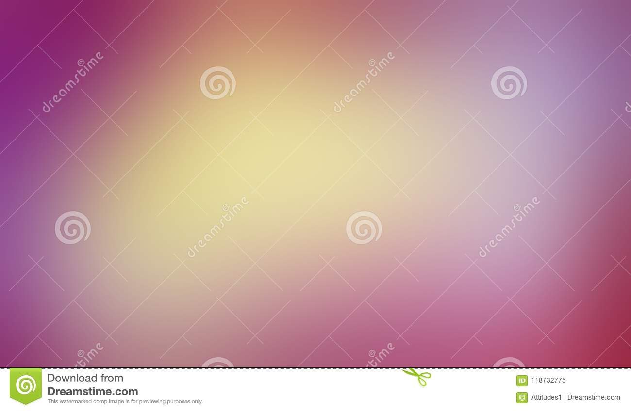Colorful background with smooth blurred texture in cool soft blended colors of pink purple yellow gold and blue in vibrant pastel
