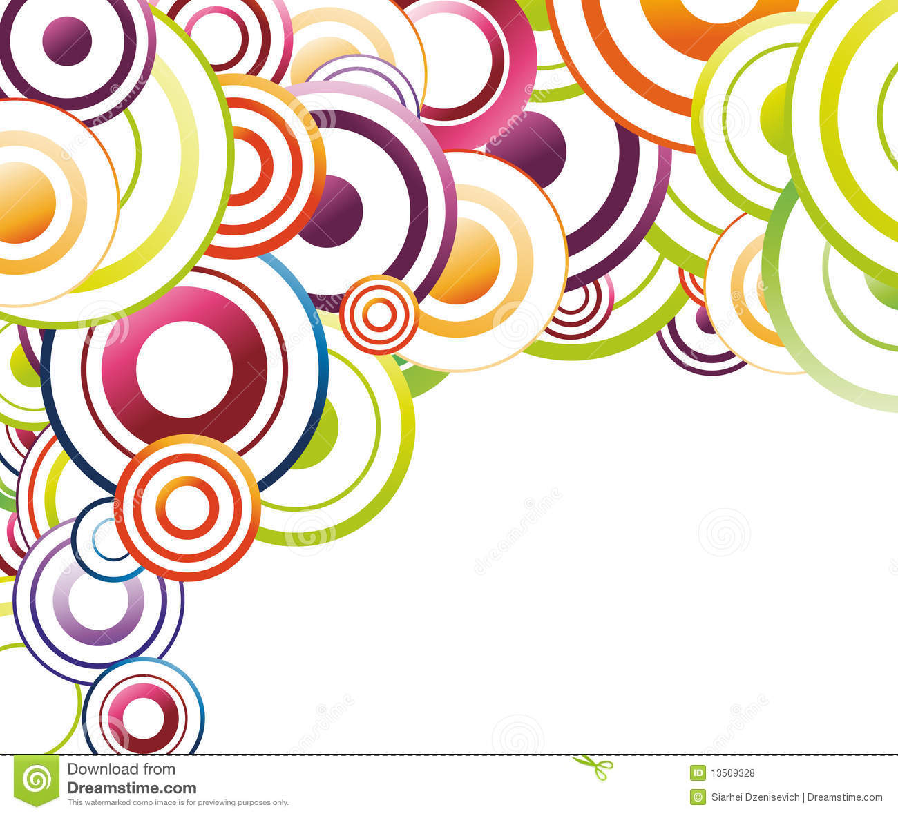 Colorful Background Template Rainbow Circles Royalty Free – Rainbow Template