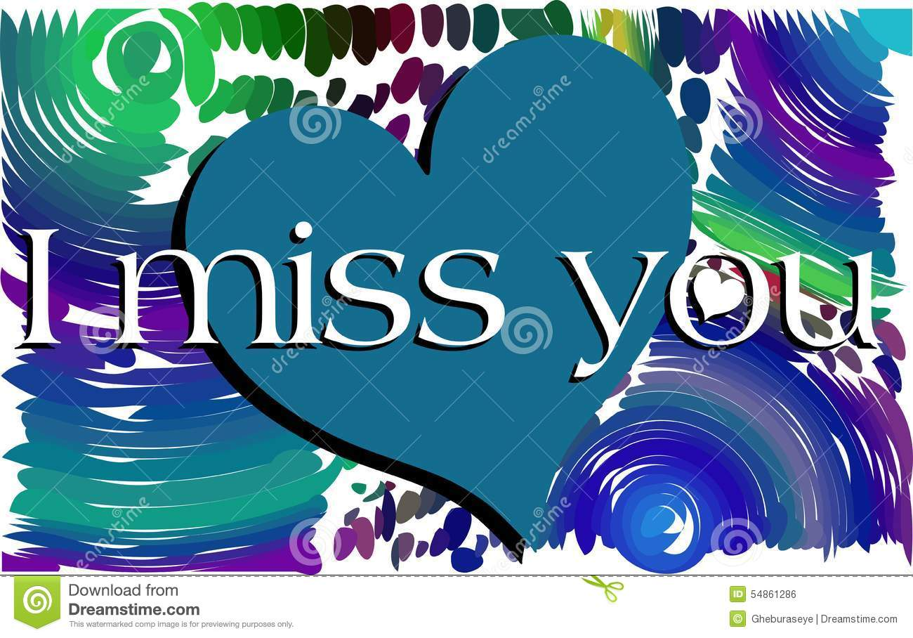 Colorful background with words i miss you stock vector colorful background with words i miss you kristyandbryce Image collections
