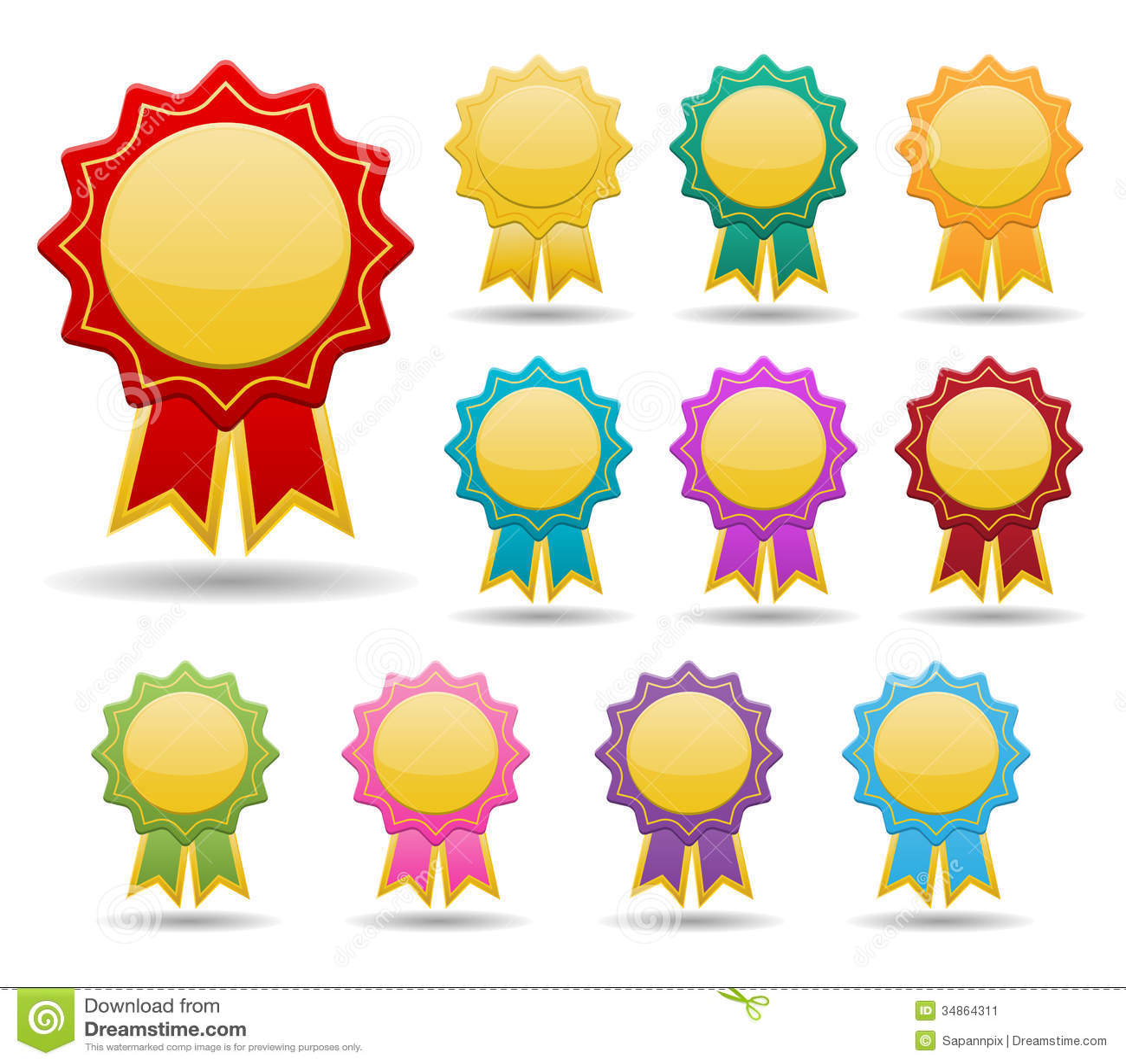 Colorful Badge Stock Image Image 34864311