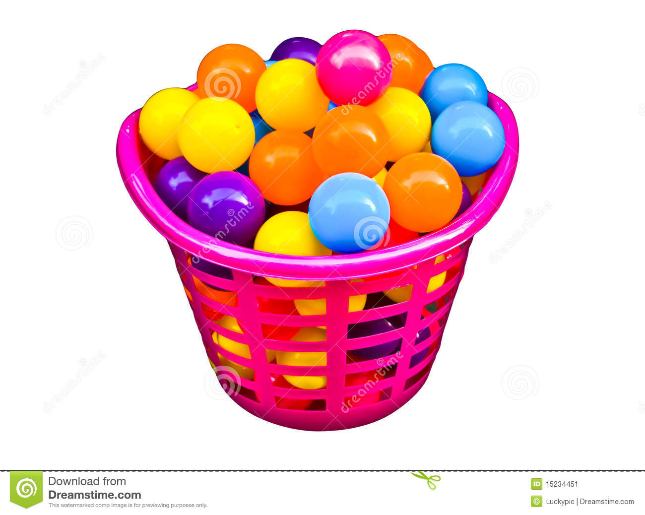Colorful Ball In Beautiful Basket Stock Image Image