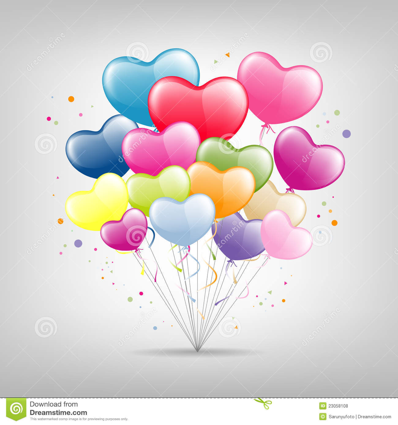 Colorful balloon heart happy valentine vector stock vector illustration of celebrate glow