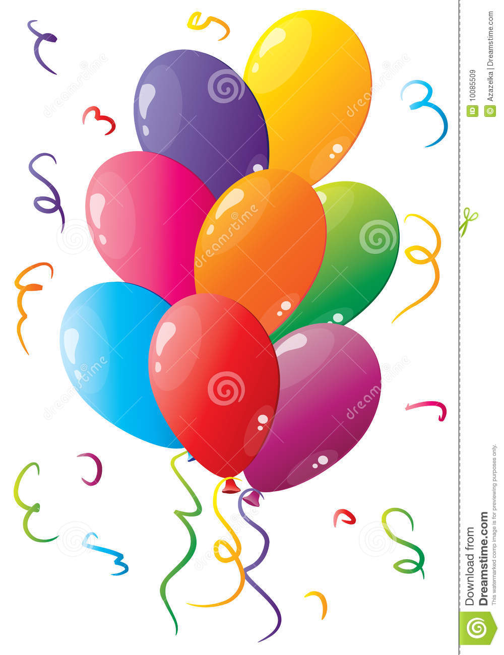 Colorful Balloons Royalty Free Stock Images - Image: 10085509
