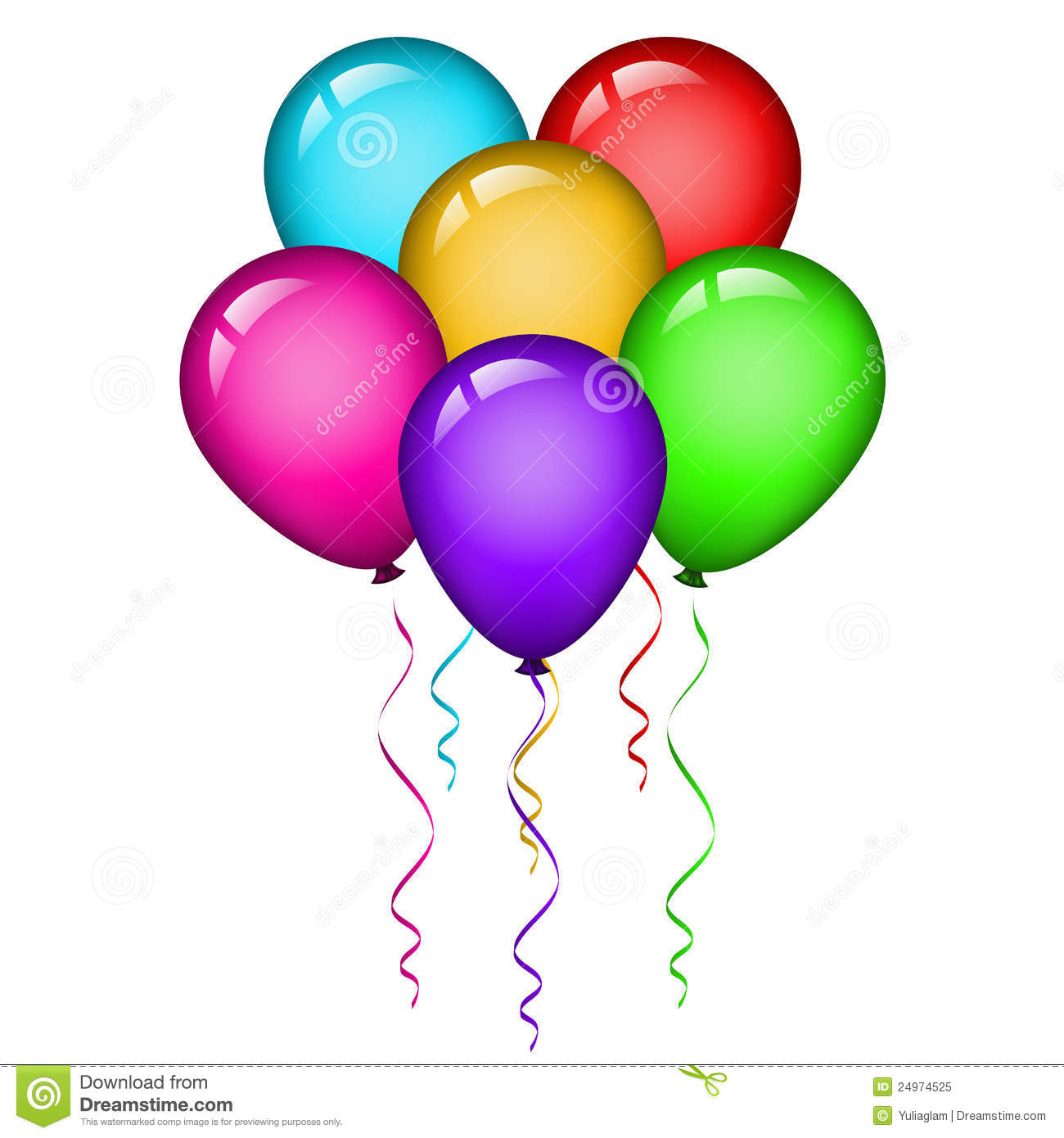 Colorful Balloons Stock Vector Image Of Invitation Happy