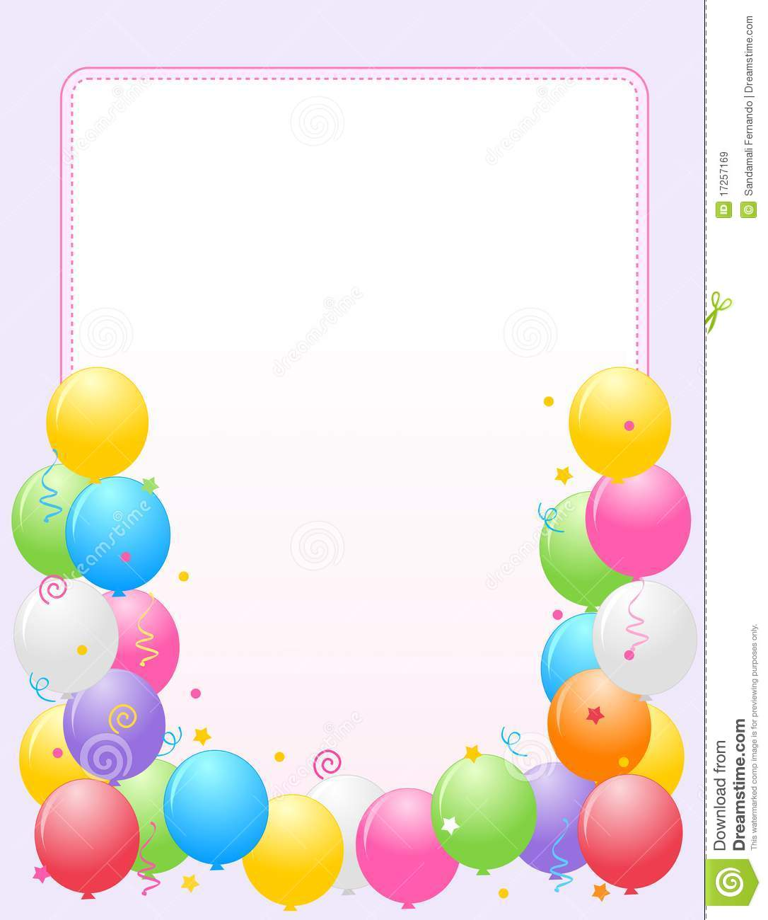 Colorful Balloons Border / Party Frame Royalty Free Stock ...