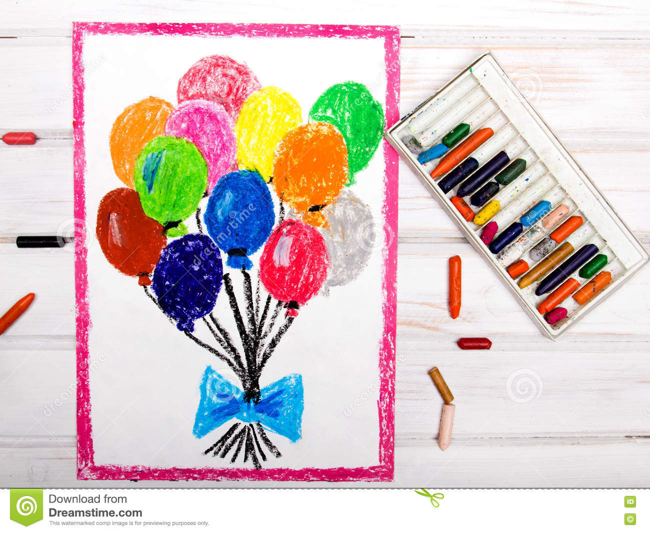 colorful balloons stock illustration illustration of drawings