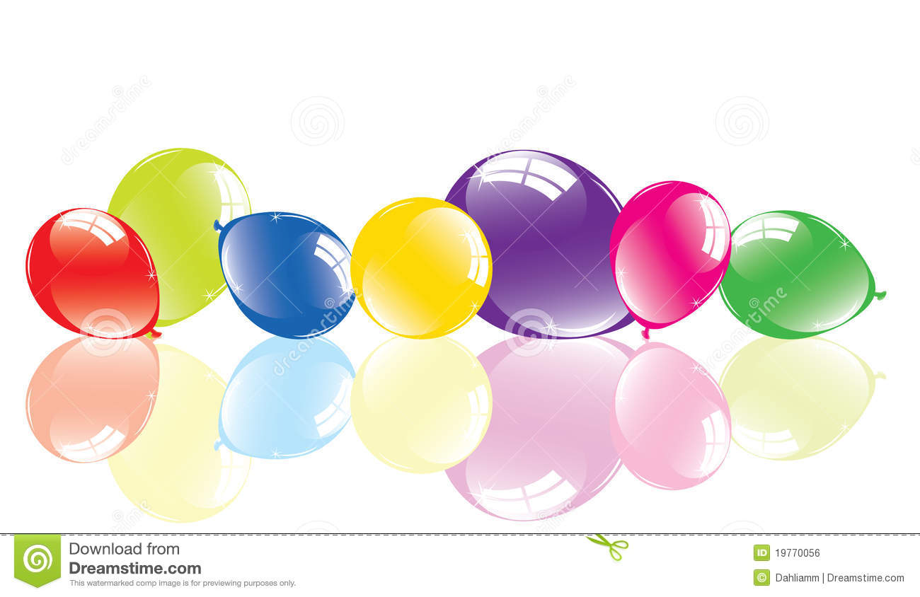 Colorful balloons on the floor royalty free stock image for On the floor