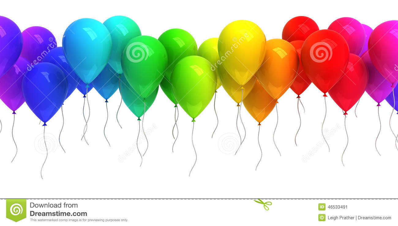 Colorful Balloons Stock Illustration Image 46533491