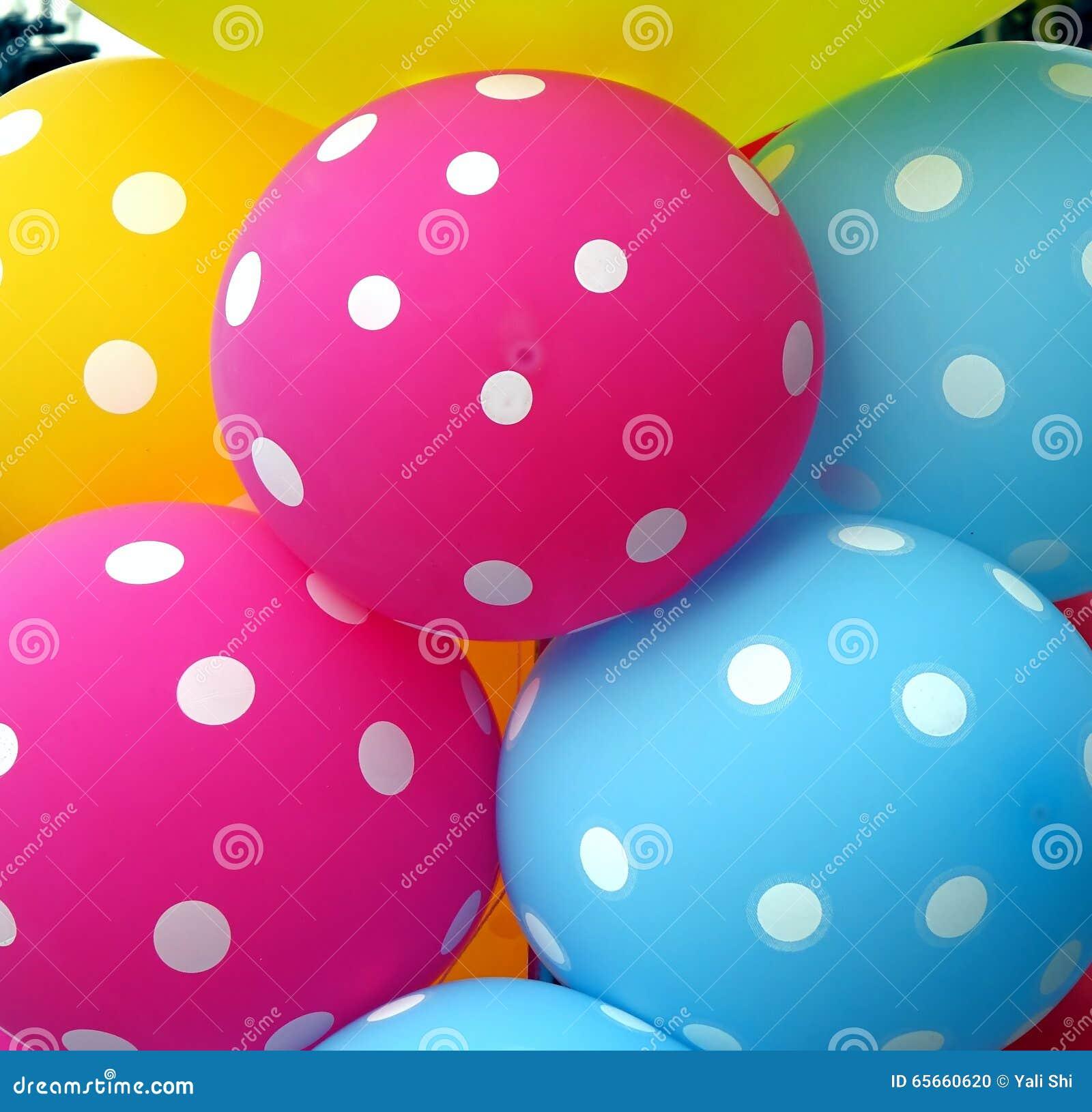 Colorful Balloons Make A Happy Mood Stock Photo Image
