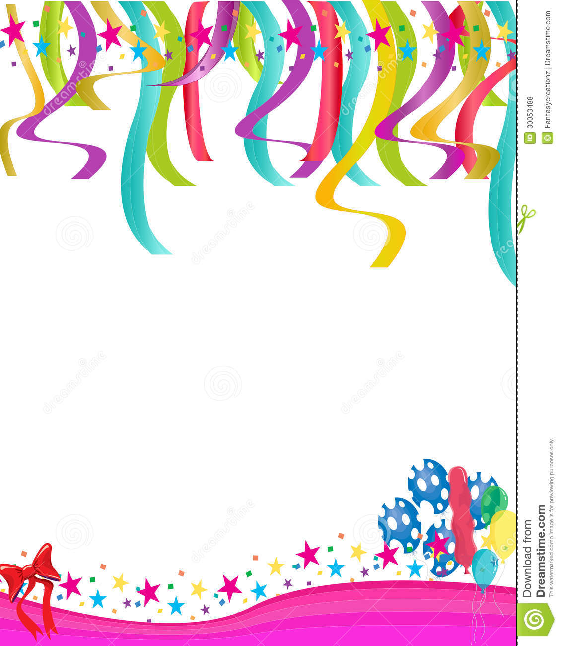 Colorful balloons and statrs illustration for birthday cards and party ...