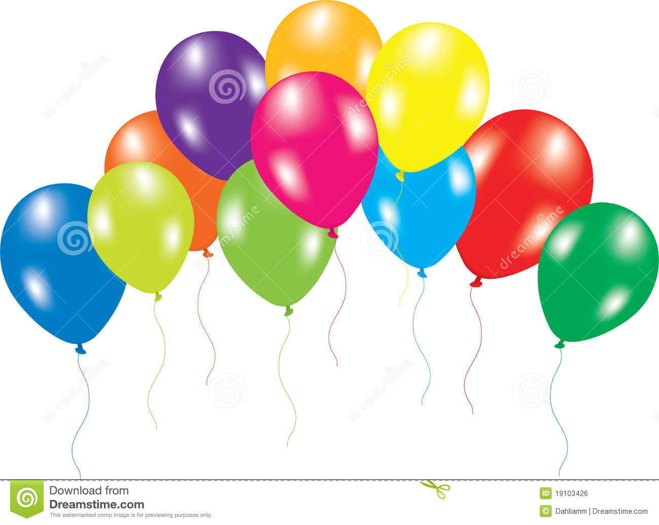 Colorful Balloons On White Background Stock Vector Image