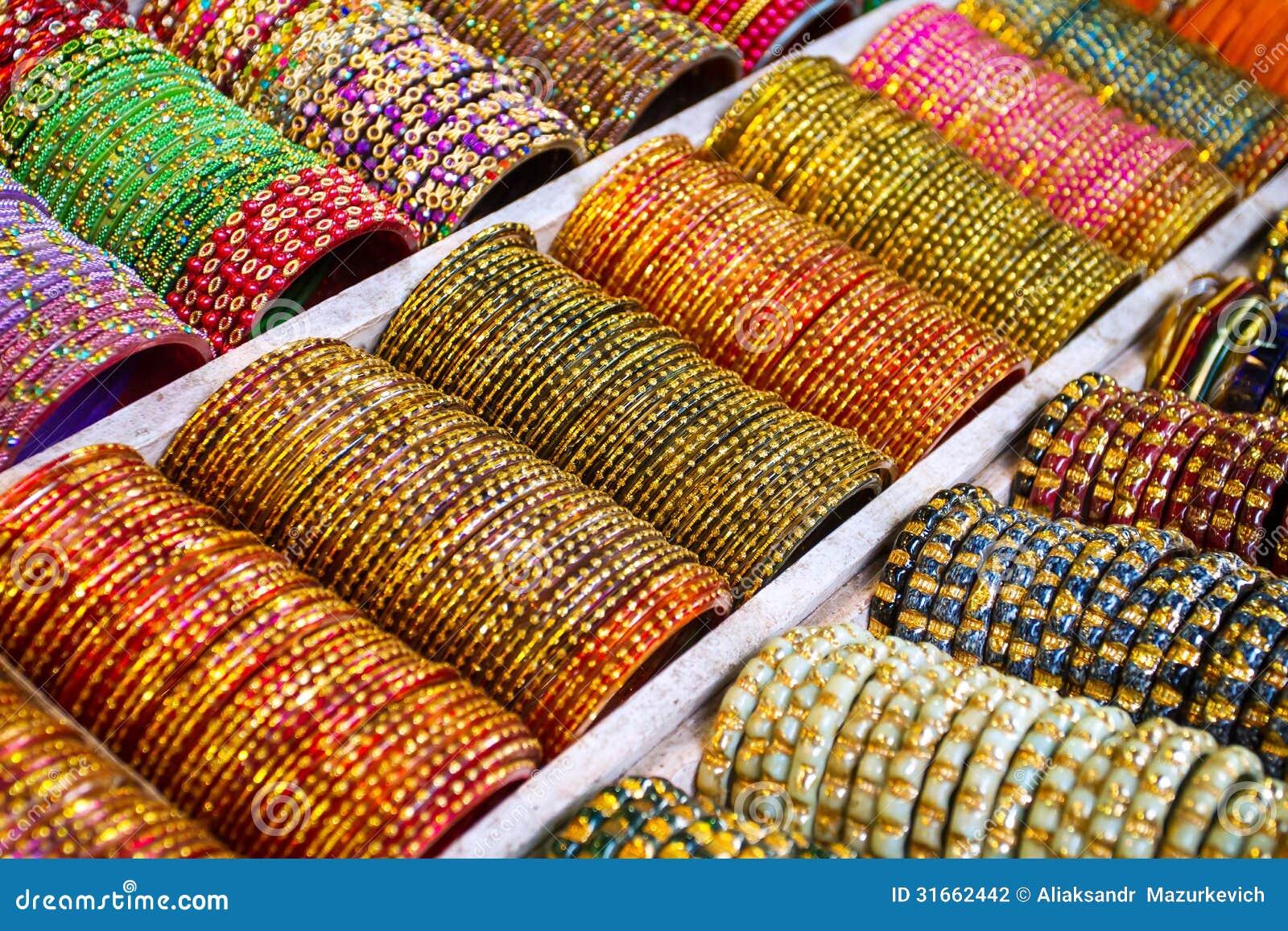 Colorful bangles jewelery bracelets stock photography image
