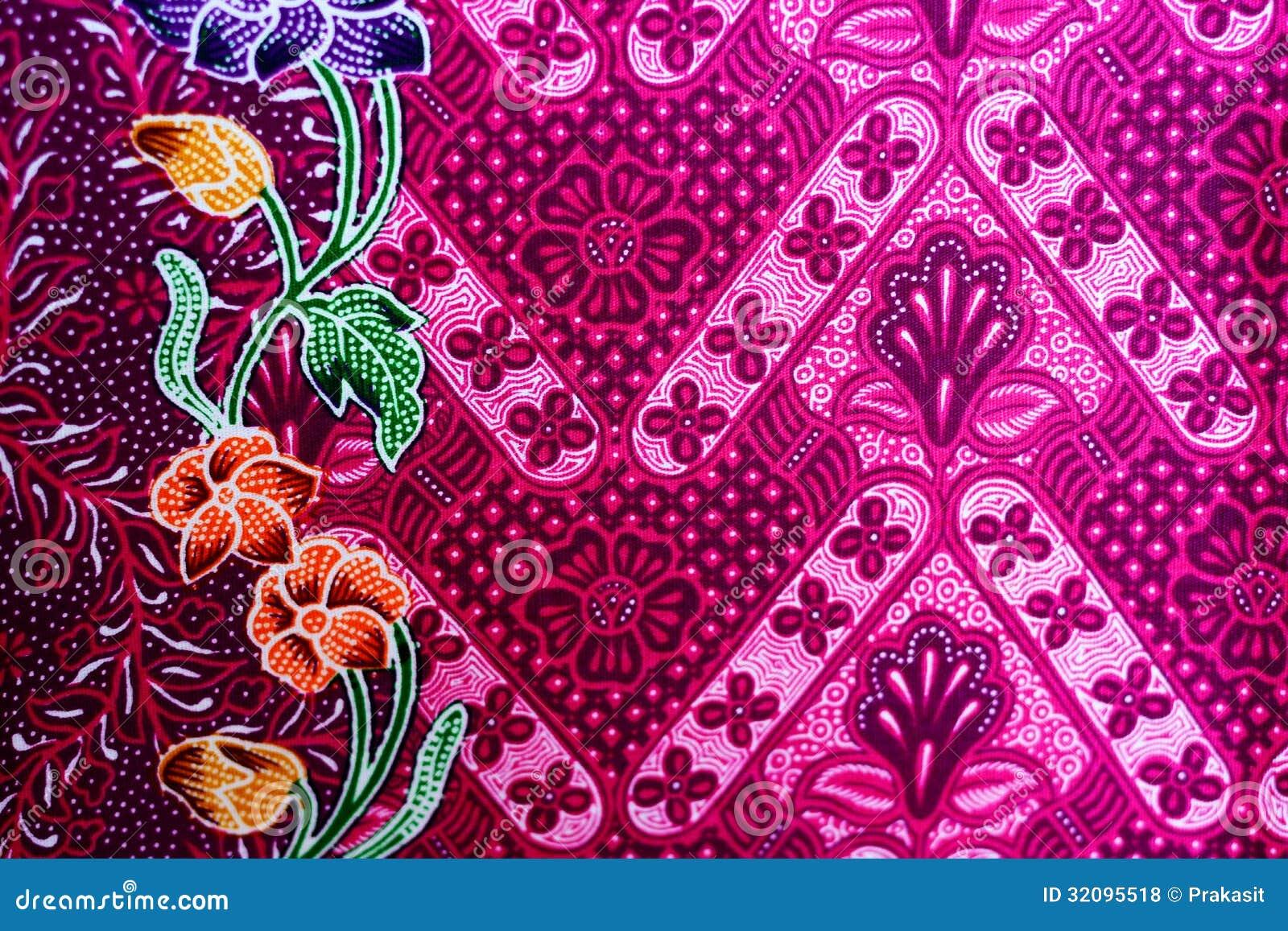 Colorful Batik Cloth Fabric Background Royalty Free Stock