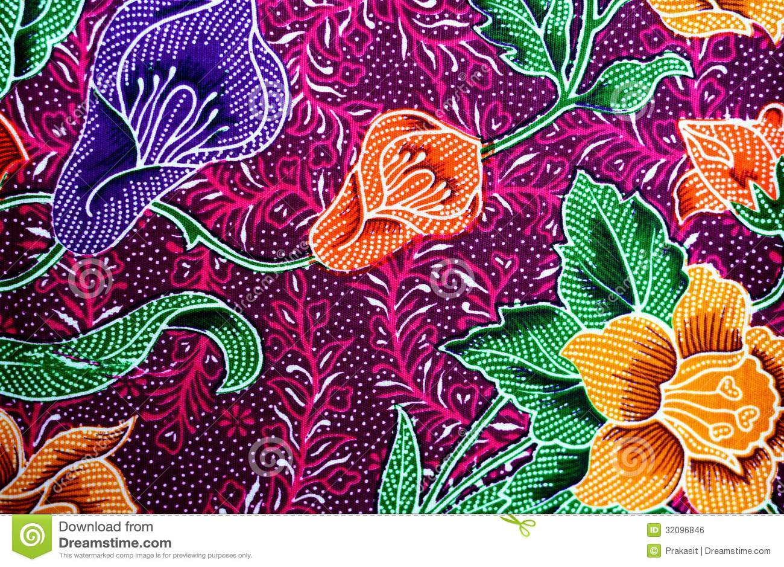 Colorful Batik Cloth Fabric Background Royalty Free Stock Image ...