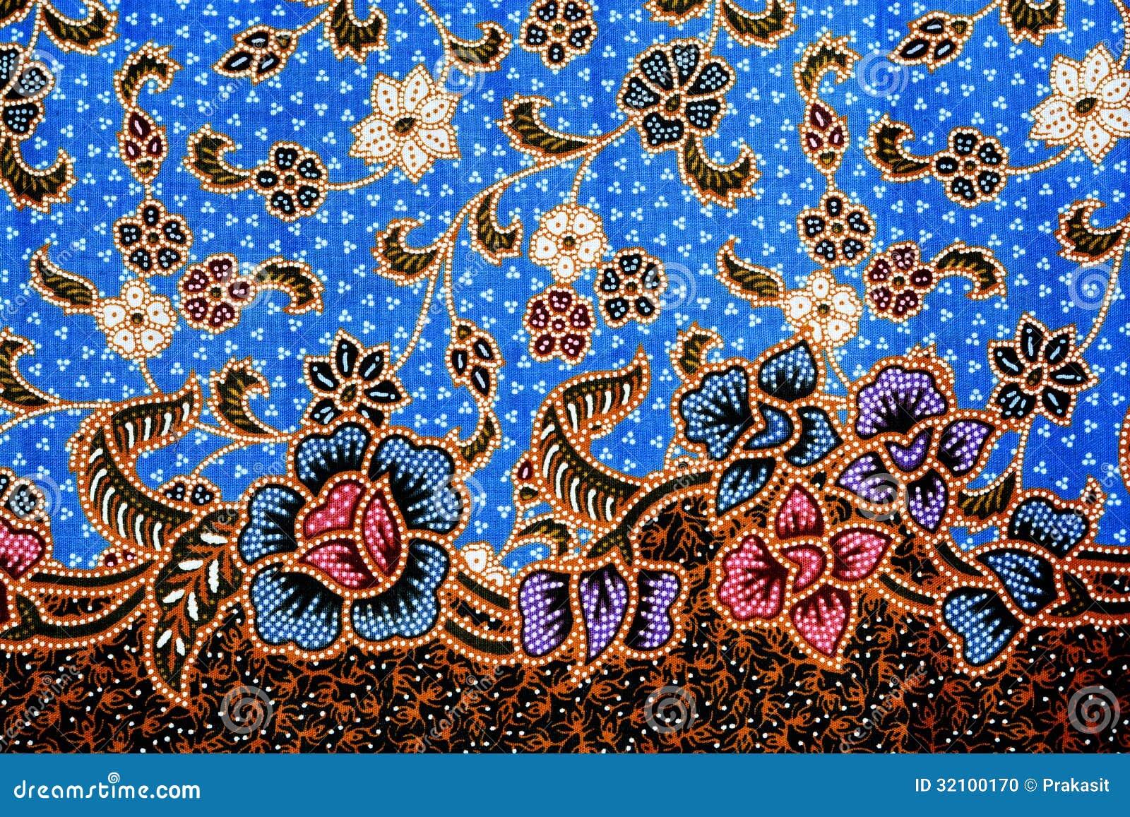 Colorful Batik Cloth Fabric Background Stock Photo
