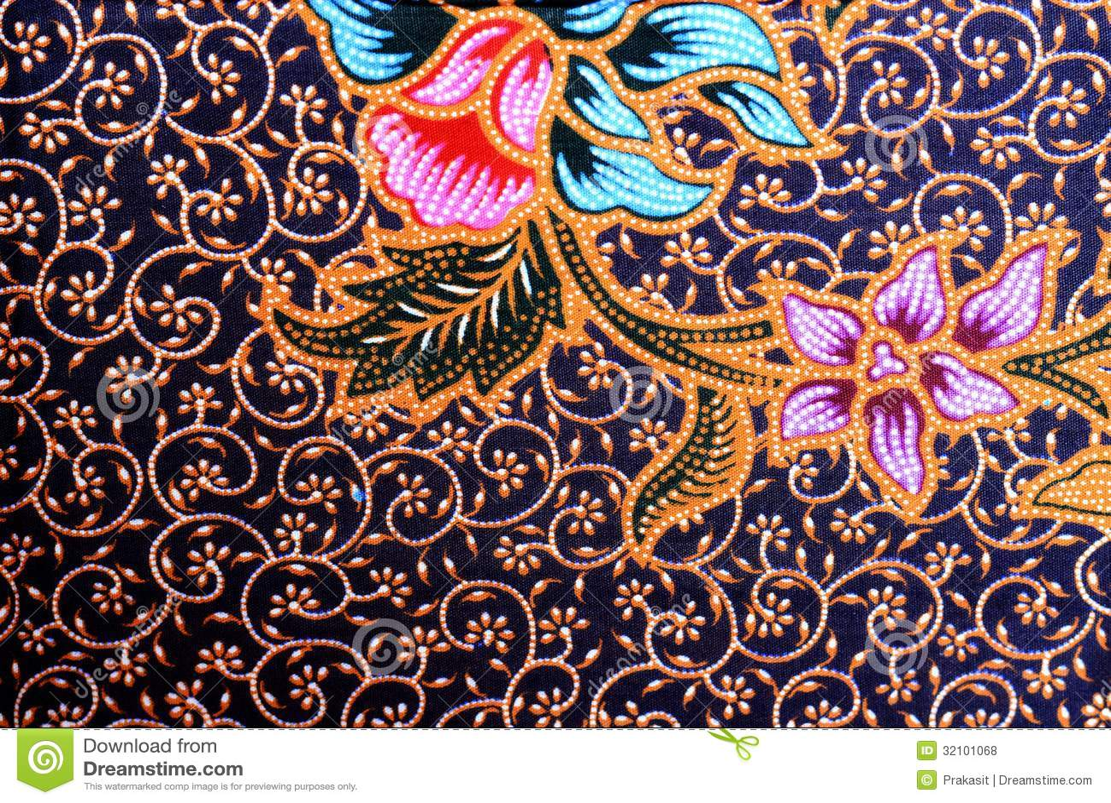 Colorful Batik Cloth Fabric Background Stock Photo Image