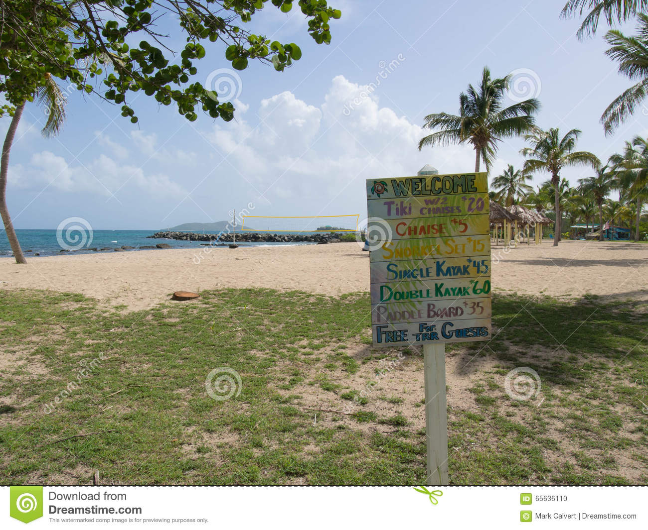 Colorful Beach Activities Price List