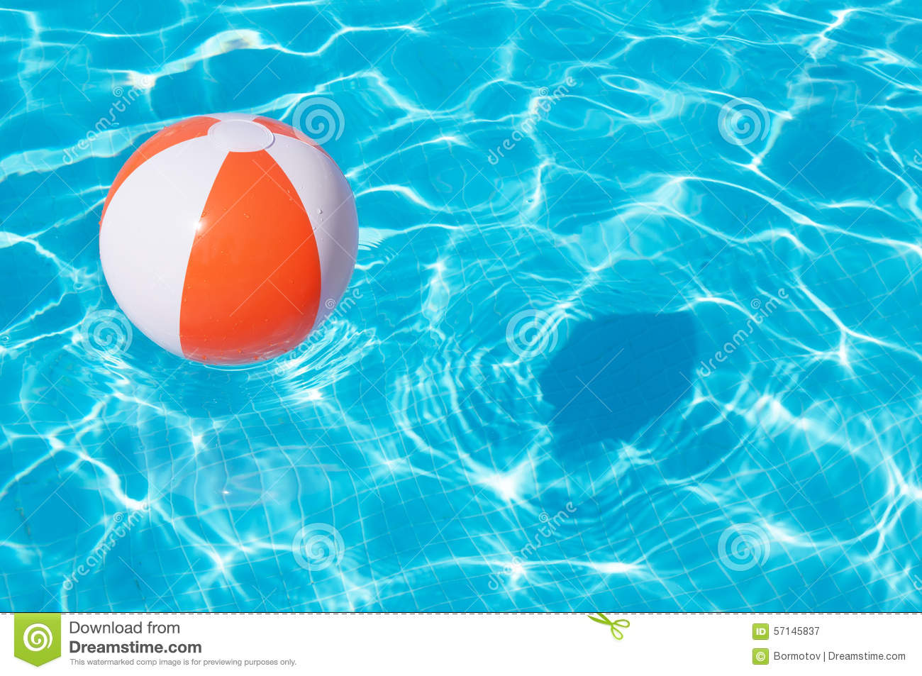 Beach Ball In Pool For Colorful Beach Ball Floating In Pool Beach Ball Floating In Pool Stock Image Of Nobody