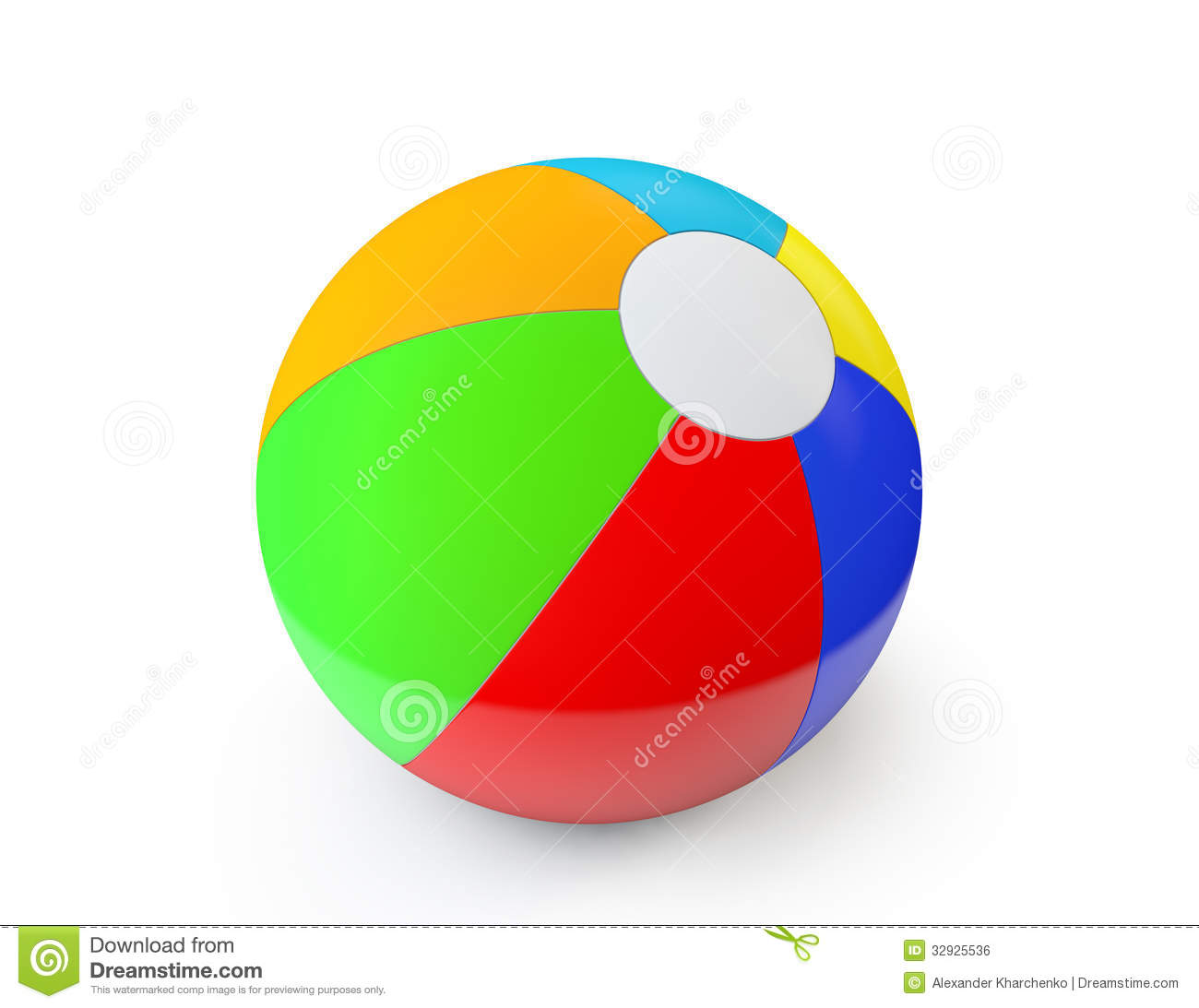 Colorful Beach Ball Royalty Free Stock Image - Image: 32925536 - photo#32