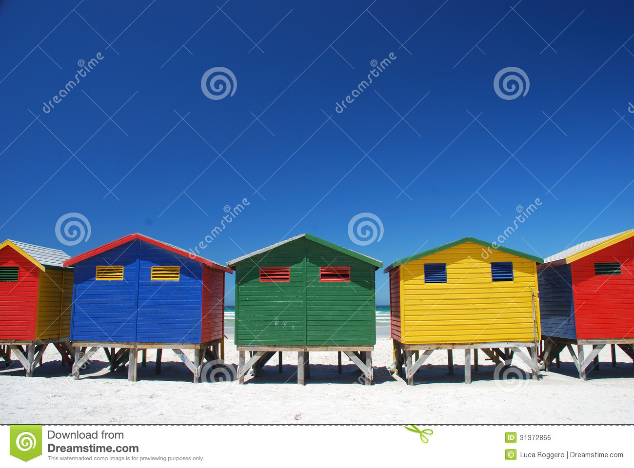 Colorful Beach Cabins In Muizenberg, South Africa Royalty ... - photo#24