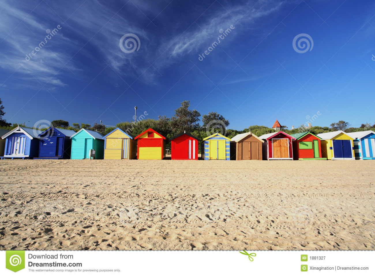 Colorful Beach Huts Royalty Free Stock Photography - Image ... - photo#23
