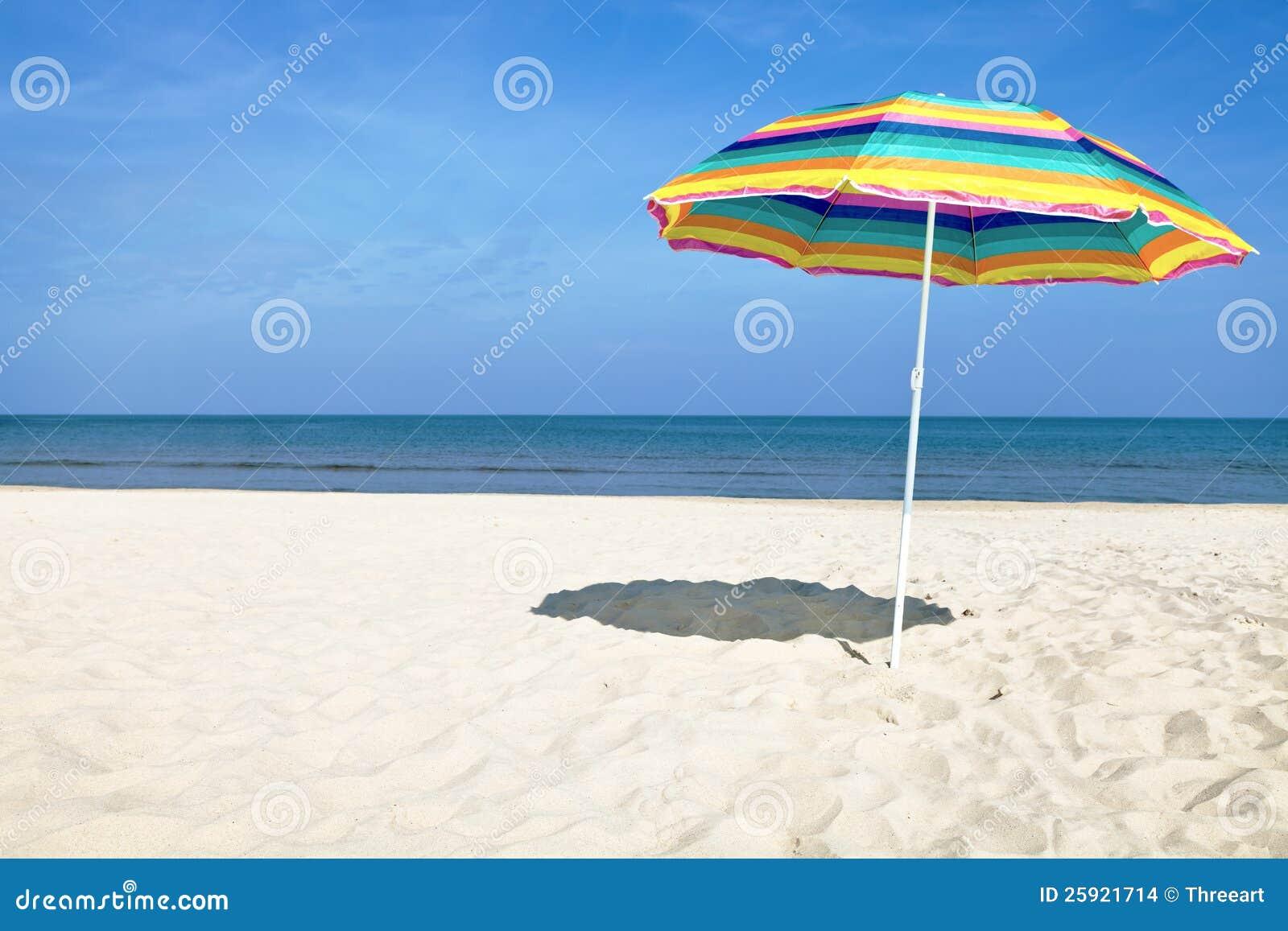 Beach umbrella colorful beach umbrella on the