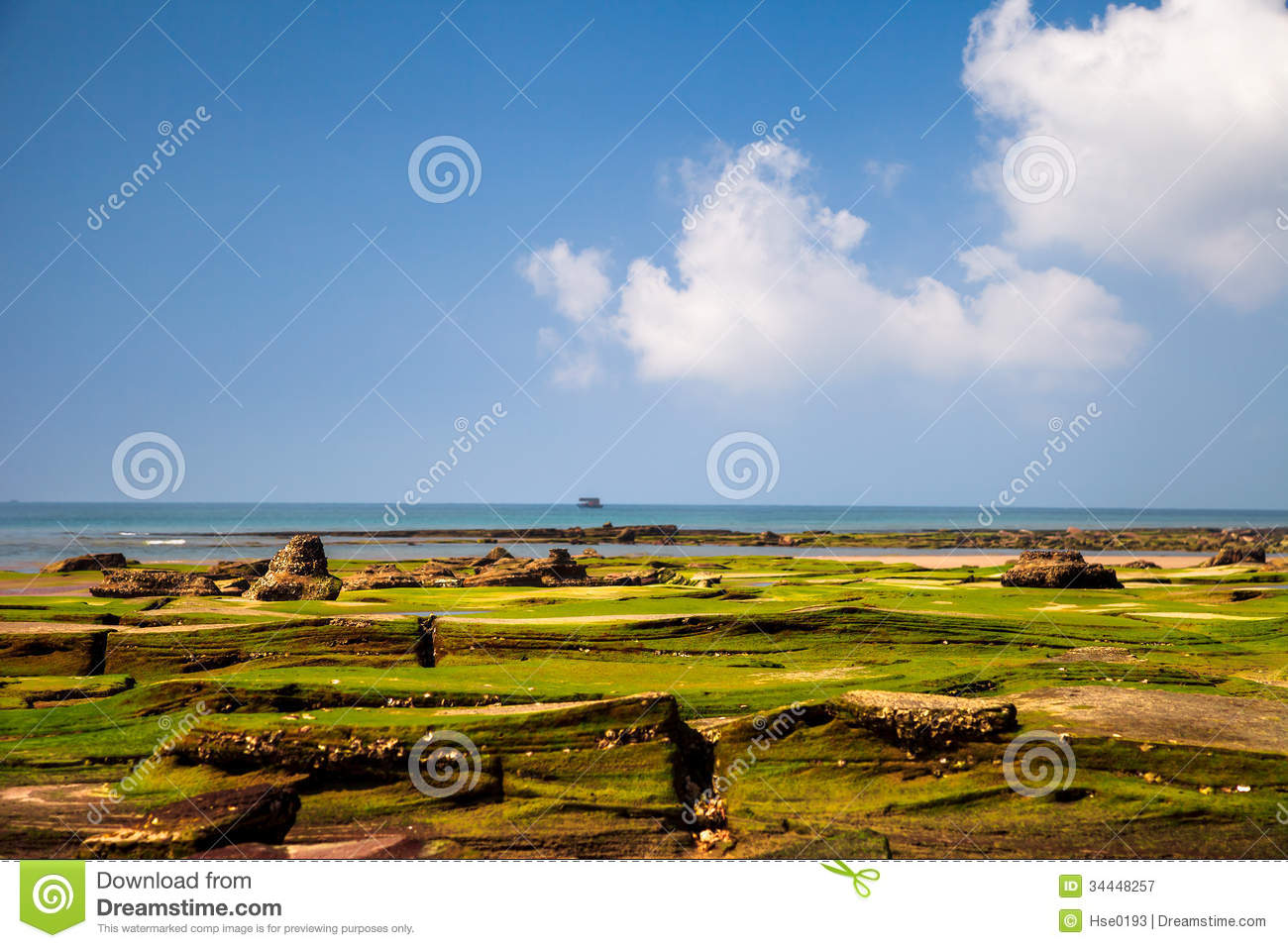 Colorful Beach In Volcanic Island Royalty Free Stock ... - photo#22