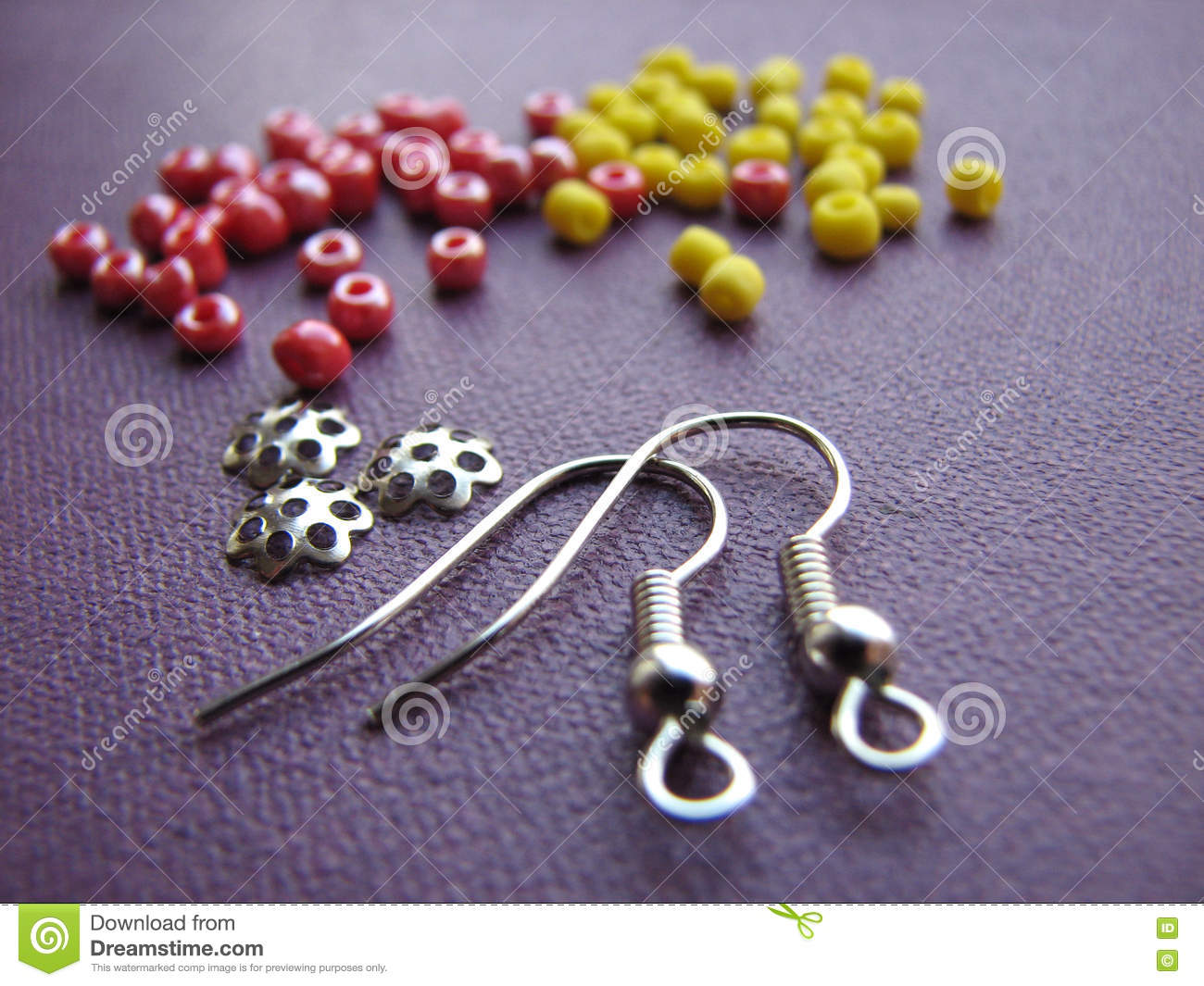 colorful beads and pieces for making earrings handmade jewelry  - beads